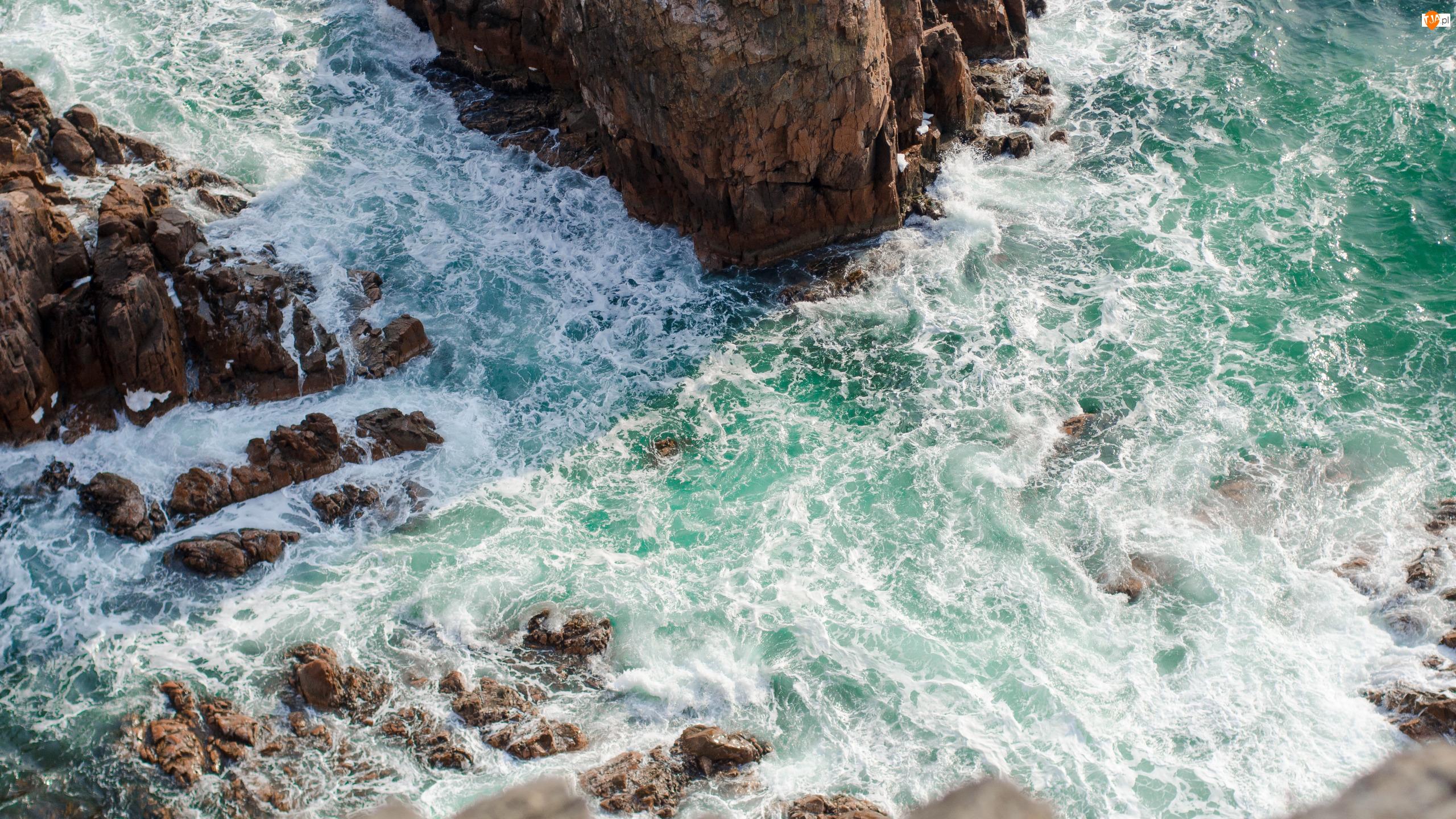 Skały, Wybrzeże, Morze, Fale