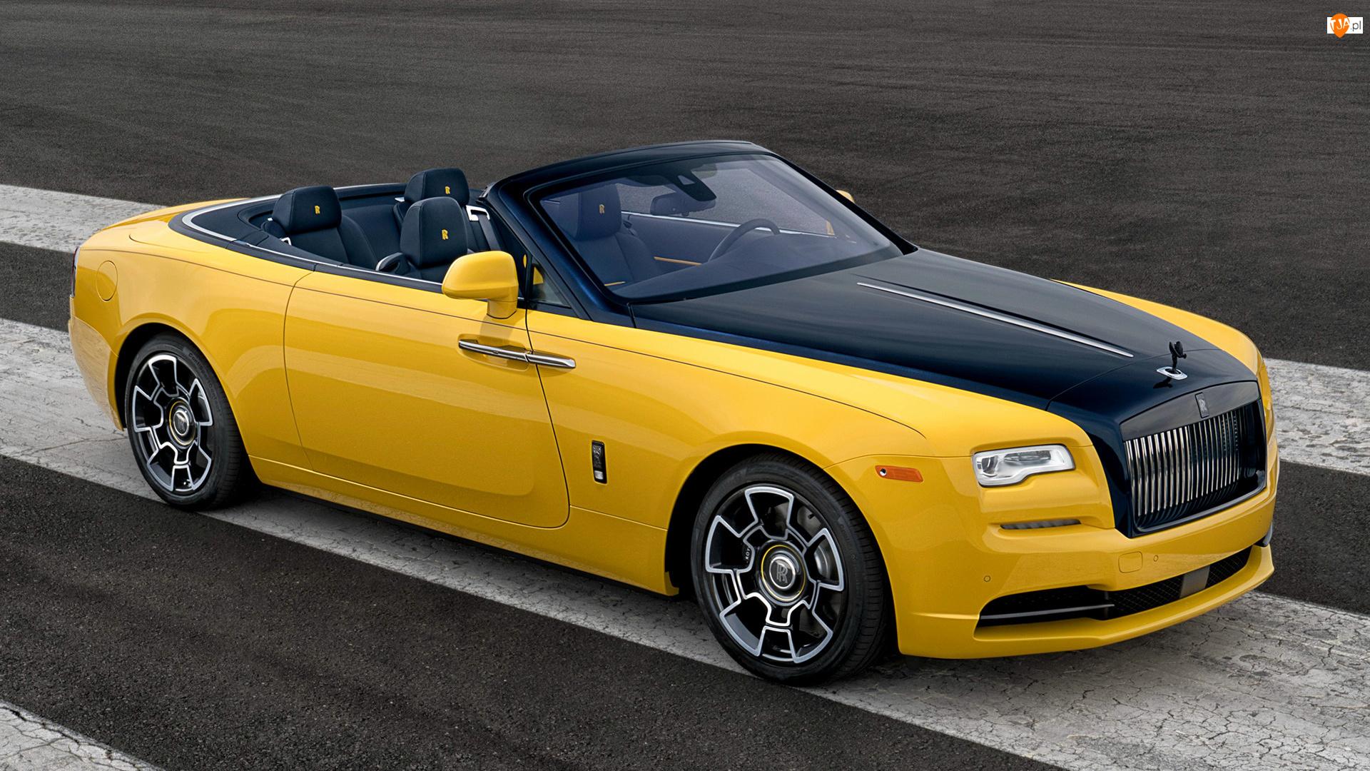 Cabrio, Żółty, Rolls-Royce Dawn