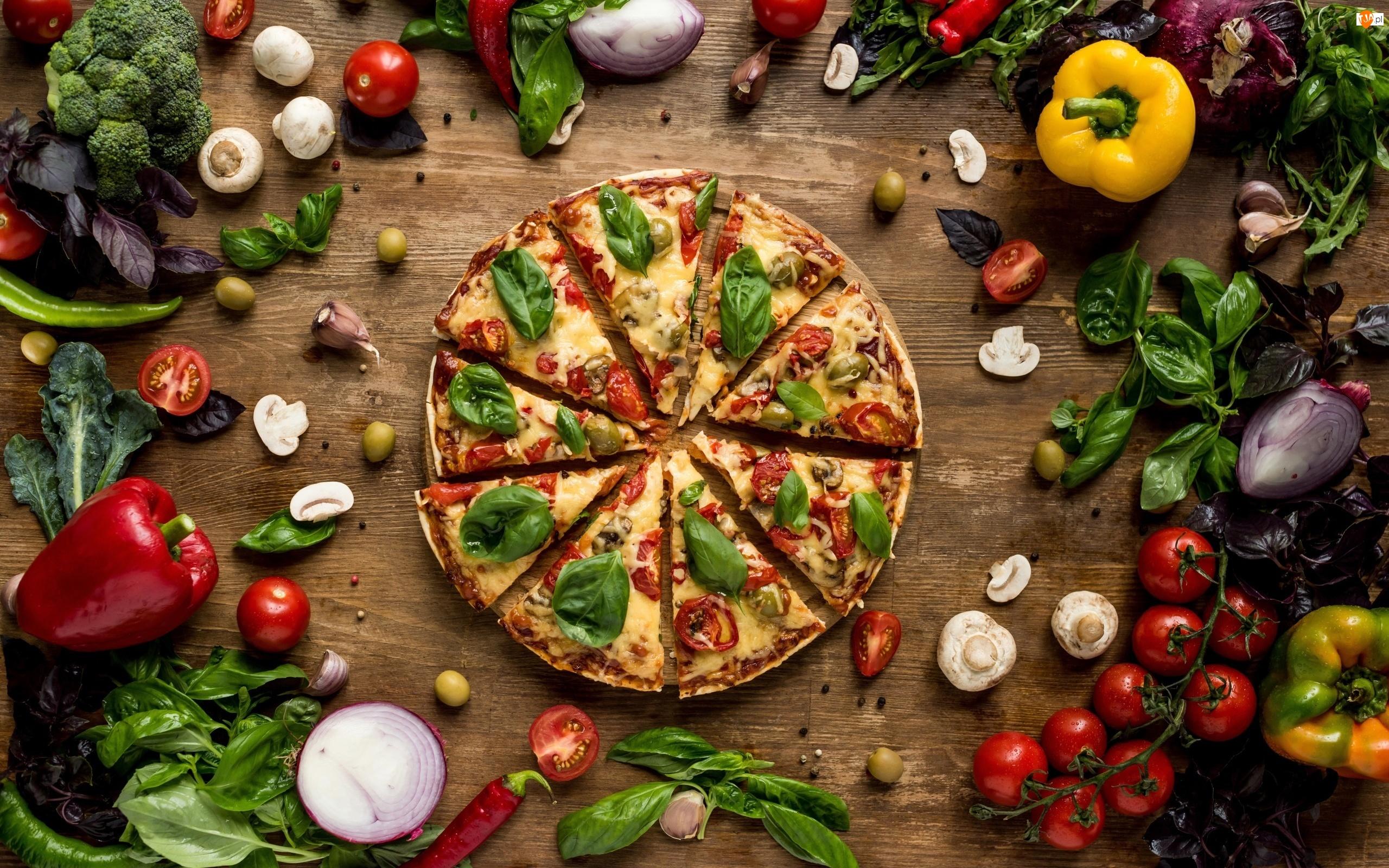 Warzywa, Pizza
