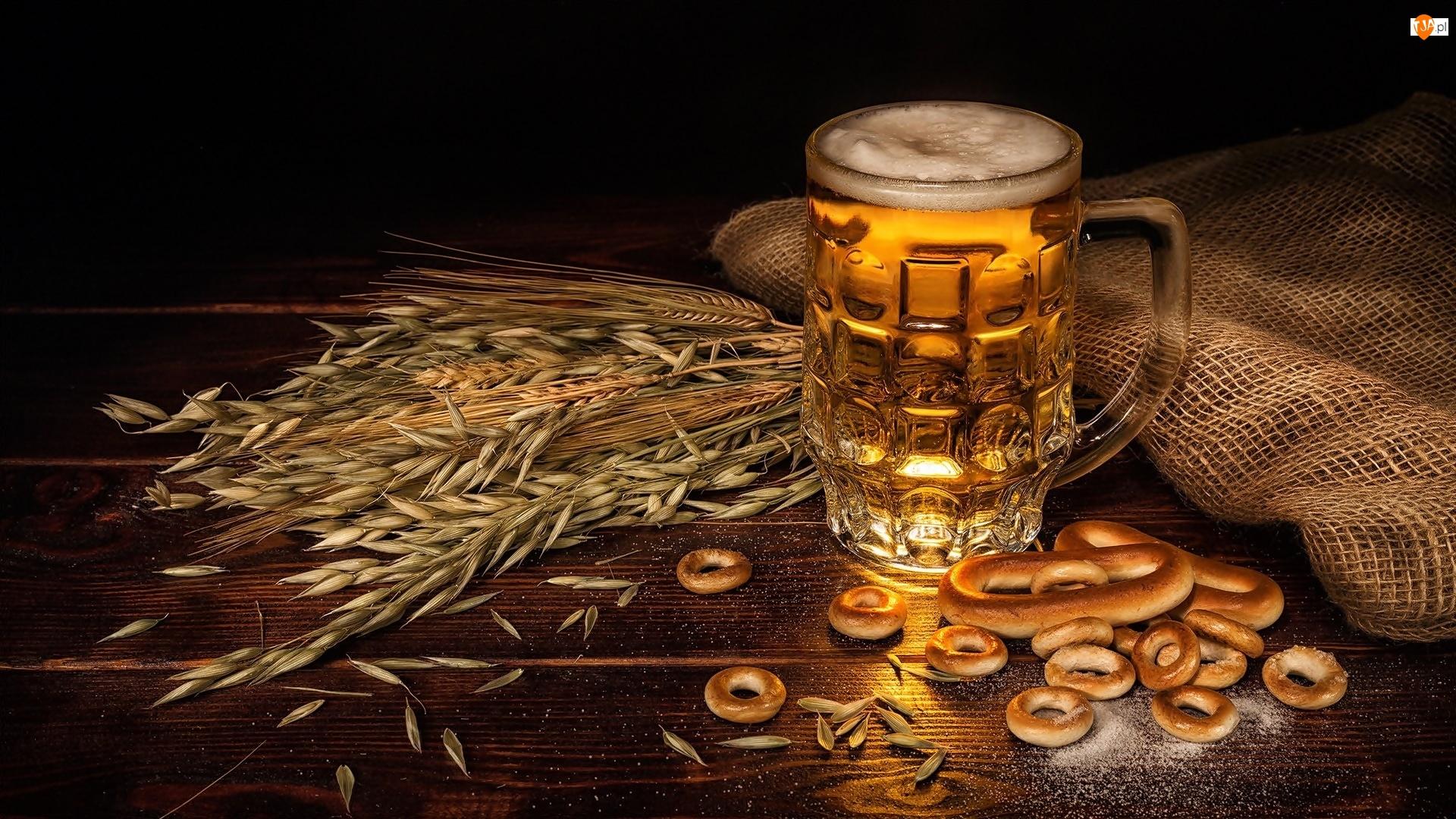 Kłosy, Piwo, Precelki, Zboże