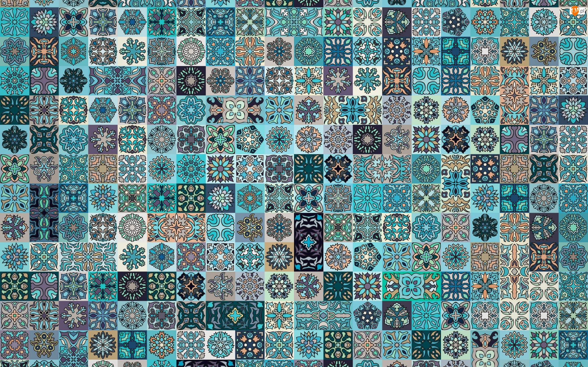 Mozaika, Tekstura, Kafelki