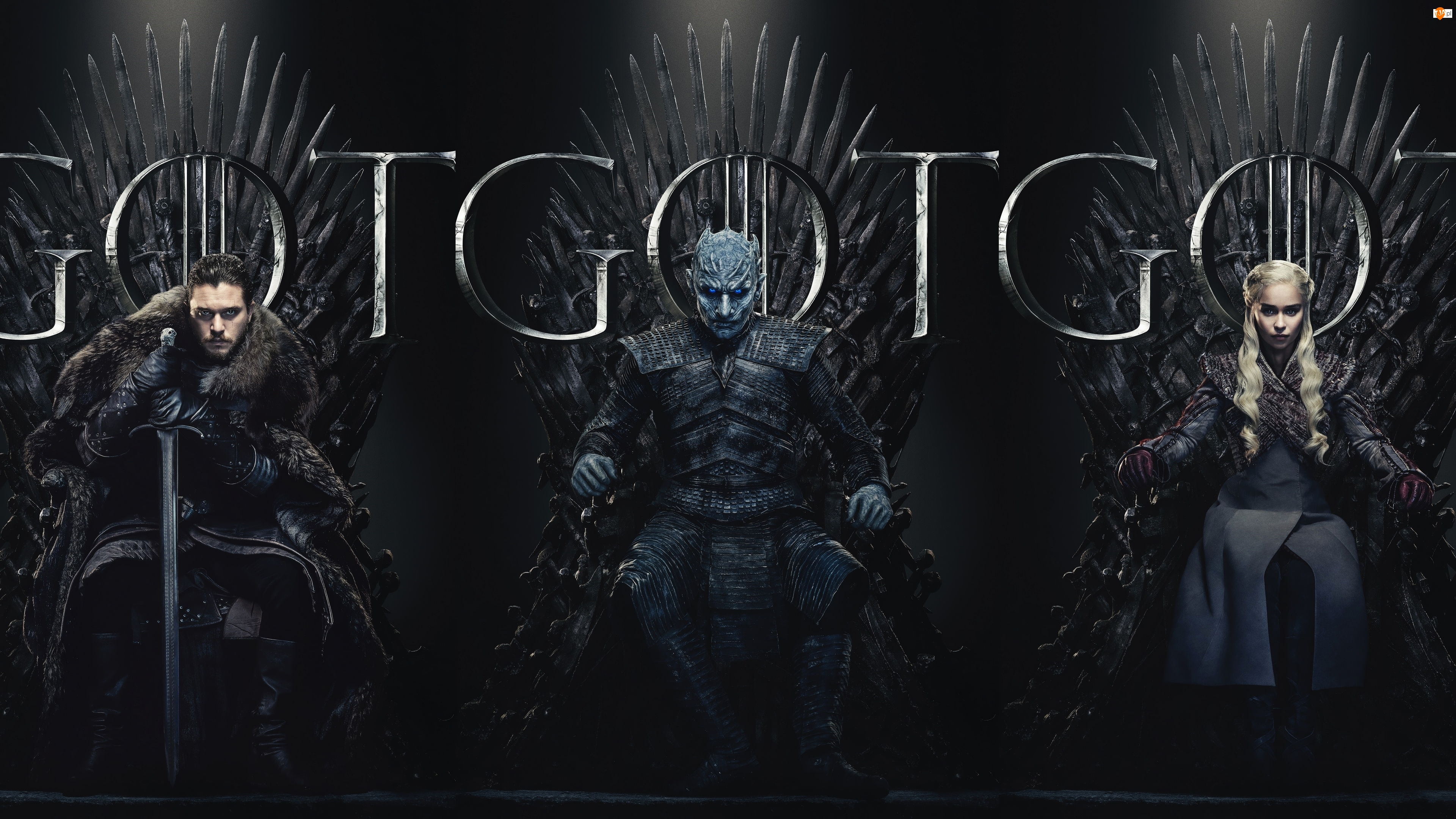 Emilia Clarke, Nocny Król, Daenerys Targaryen, Kit Harington, Gra o Tron, Serial, Jon Snow, Game of Thrones, Aktor, Aktorka