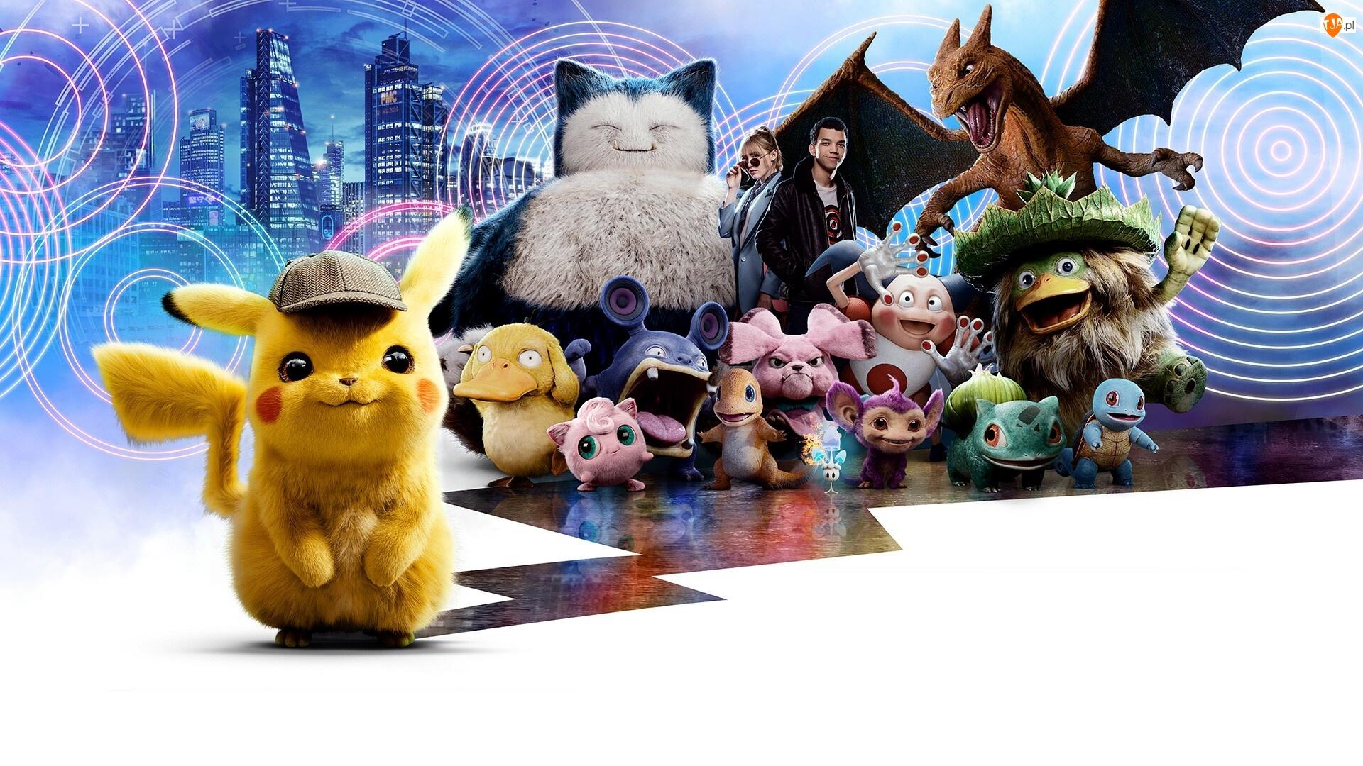 Justice Smith, Film, Pokemon Detektyw Pikachu, Kathryn Newton