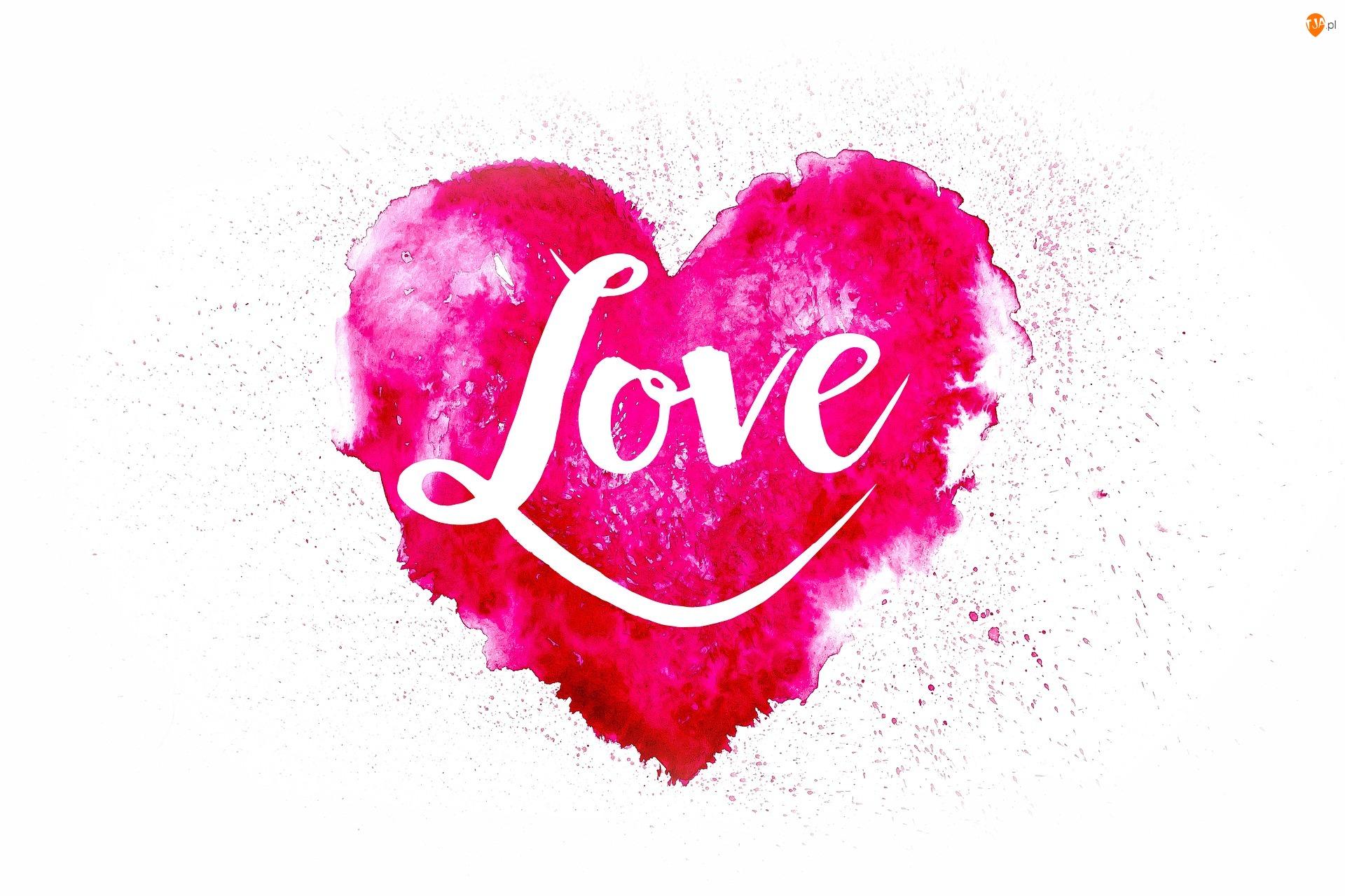 Love, Serce, Miłość, Napis