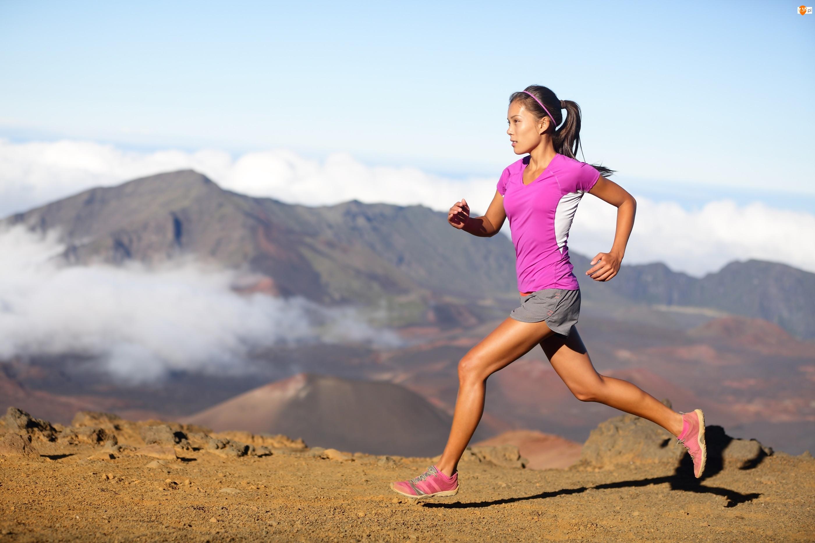 Jogging, Kobieta, Góry