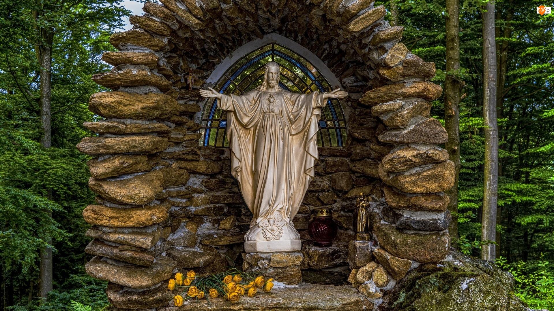 Posąg, Kapliczka, Kamienie, Jezus