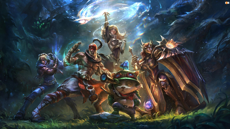 Postacie, Magia, League of Legends, Gra, Kot