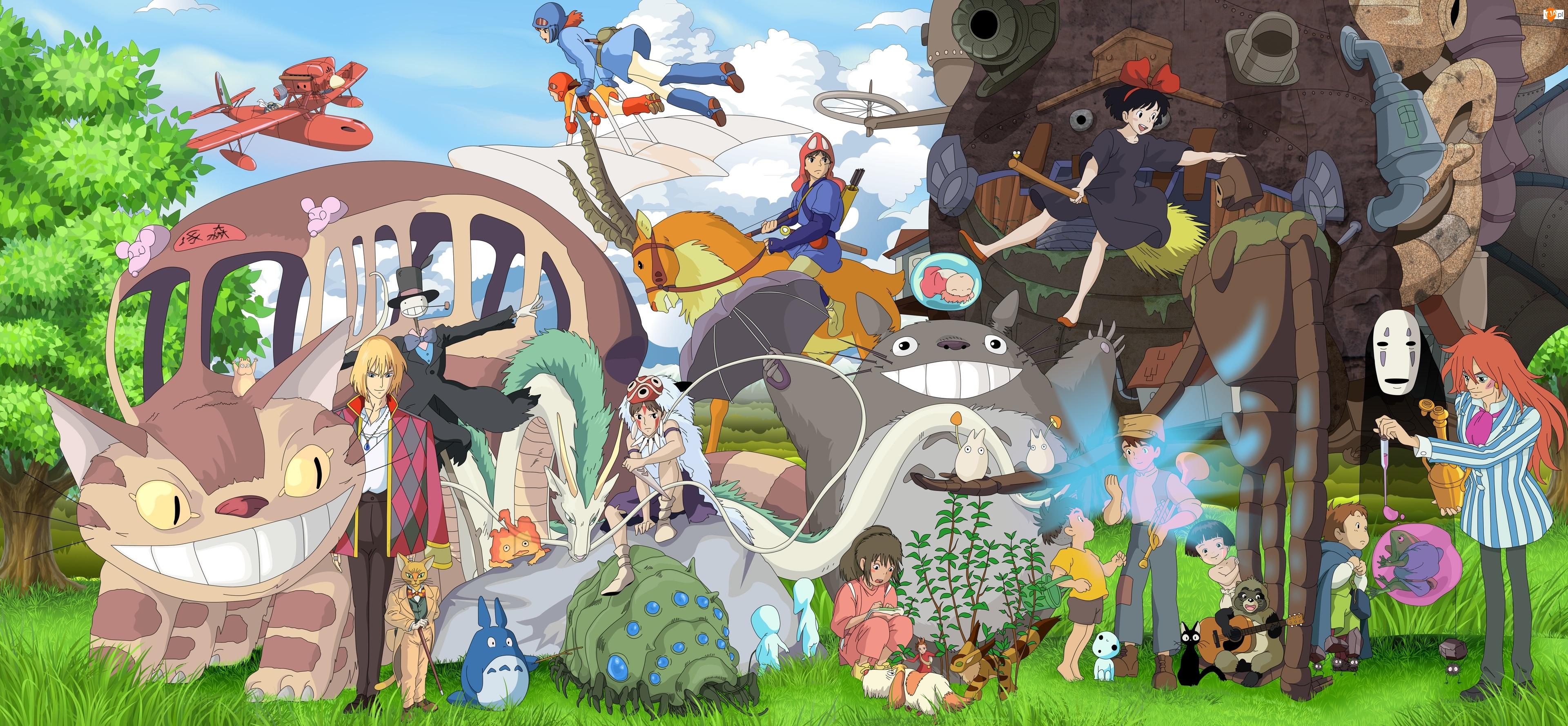 Japonia, Podniebna poczta Kiki, Szkarłatny pilot, Fujimoto, Opo, Filmy, Laputa – podniebny zamek, Ponyo, Ruchomy zamek Hauru, Księżniczka Mononoke, Anime, Mój sąsiad Totoro, Nausicaa z Doliny Wiatru, Studio Ghibli, Spirited Away W krainie bogów