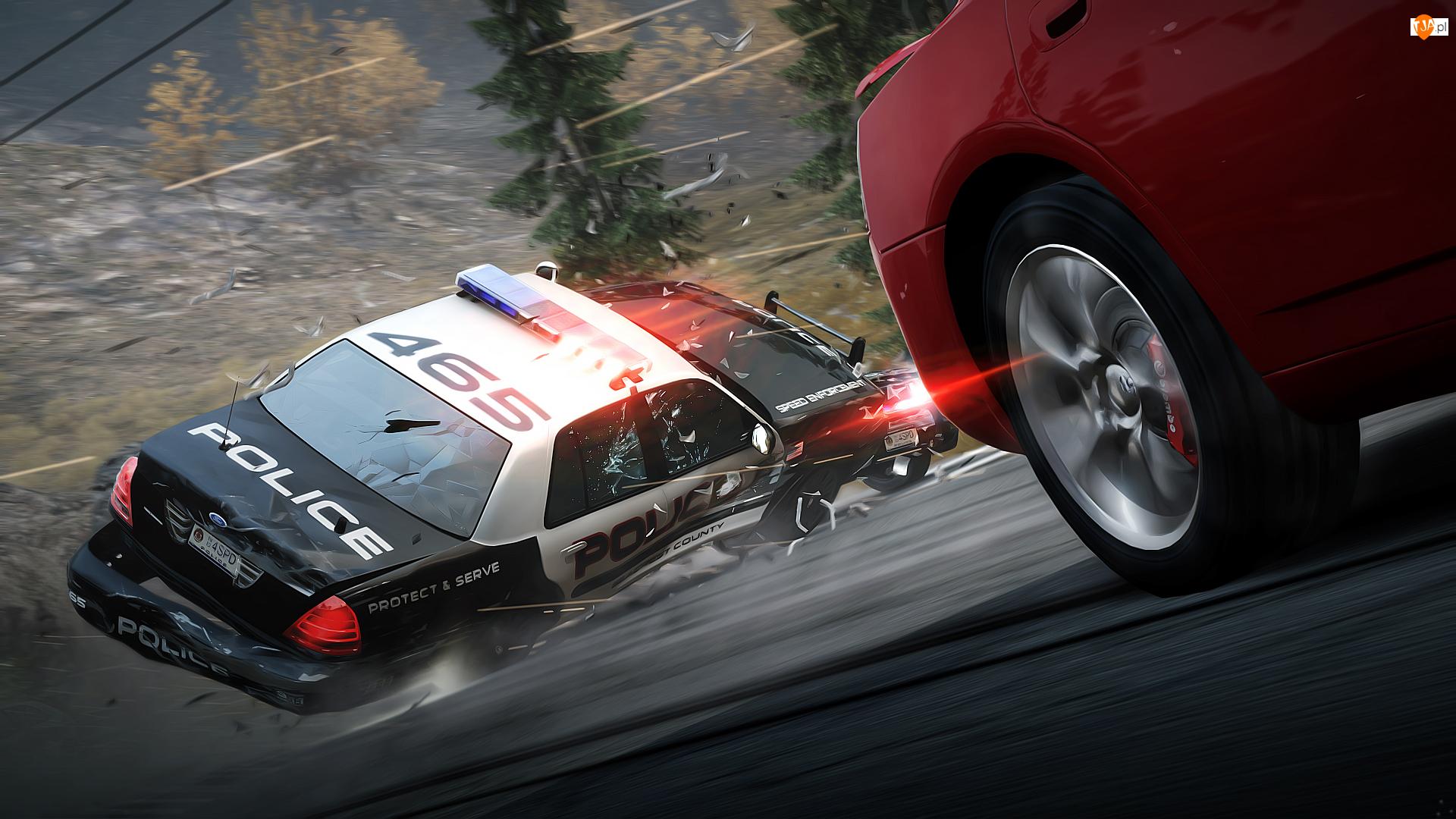 Scena, Ucieczka, Need for Speed Hot Pursuit, Gra, Pościg