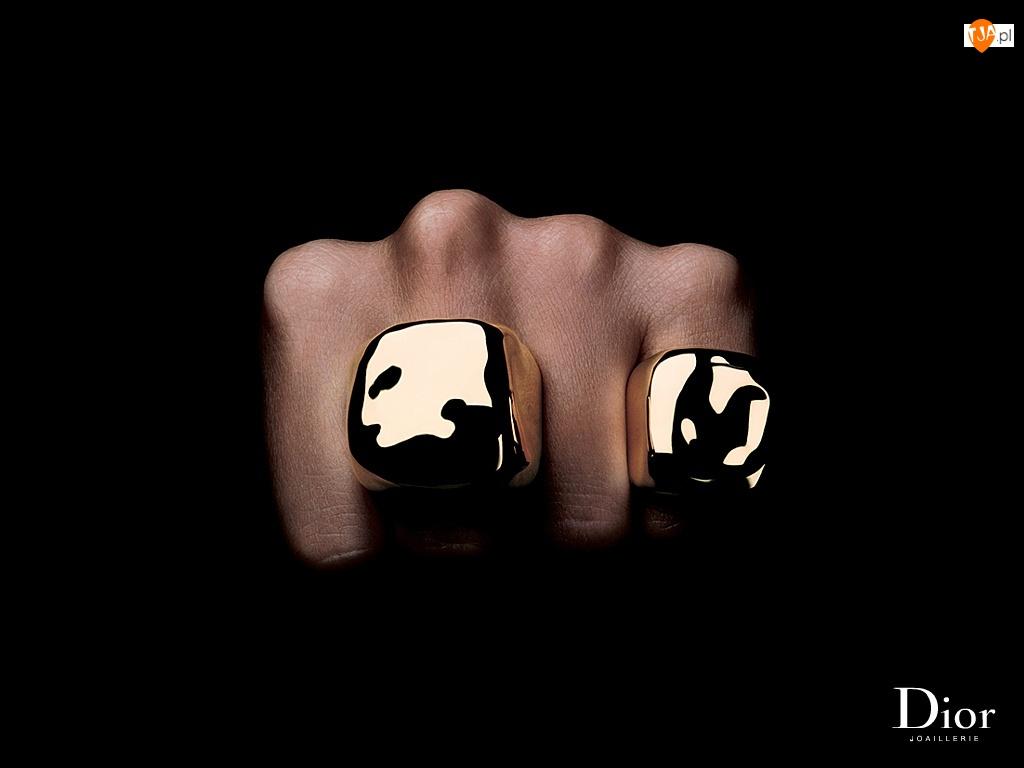 ręka, biżuteria, Dior, sygnet, dłoń, pierścienie