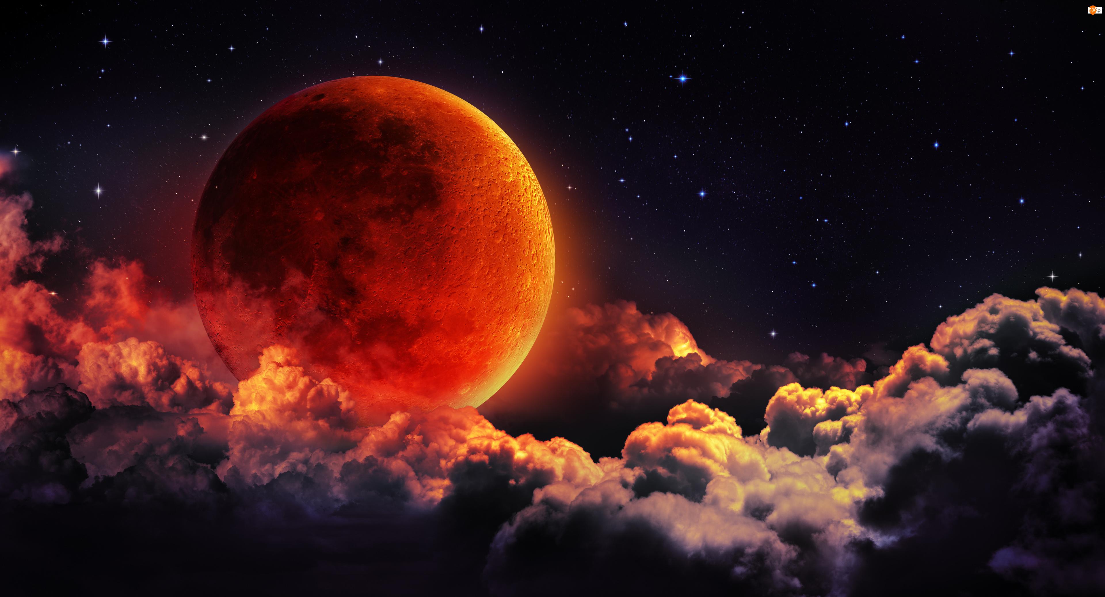 Chmury, Księżyc, Planeta