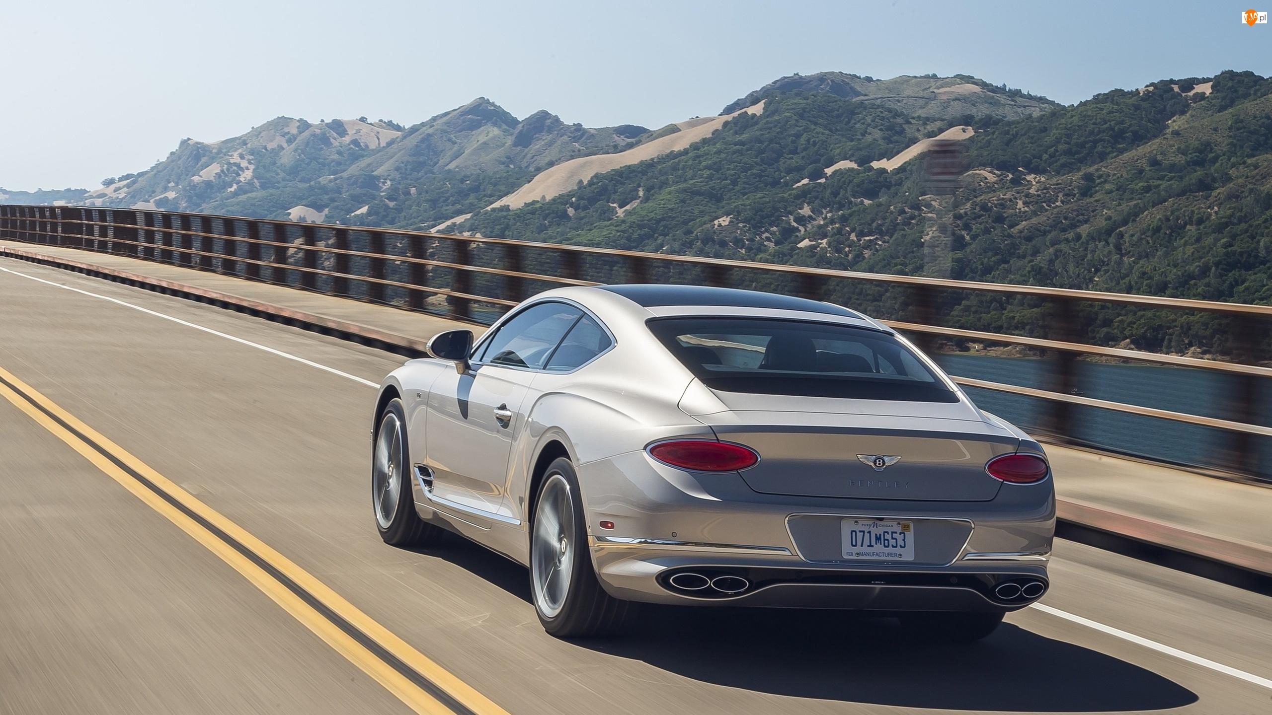 Coupe, Srebrny, Bentley Continental GT V8