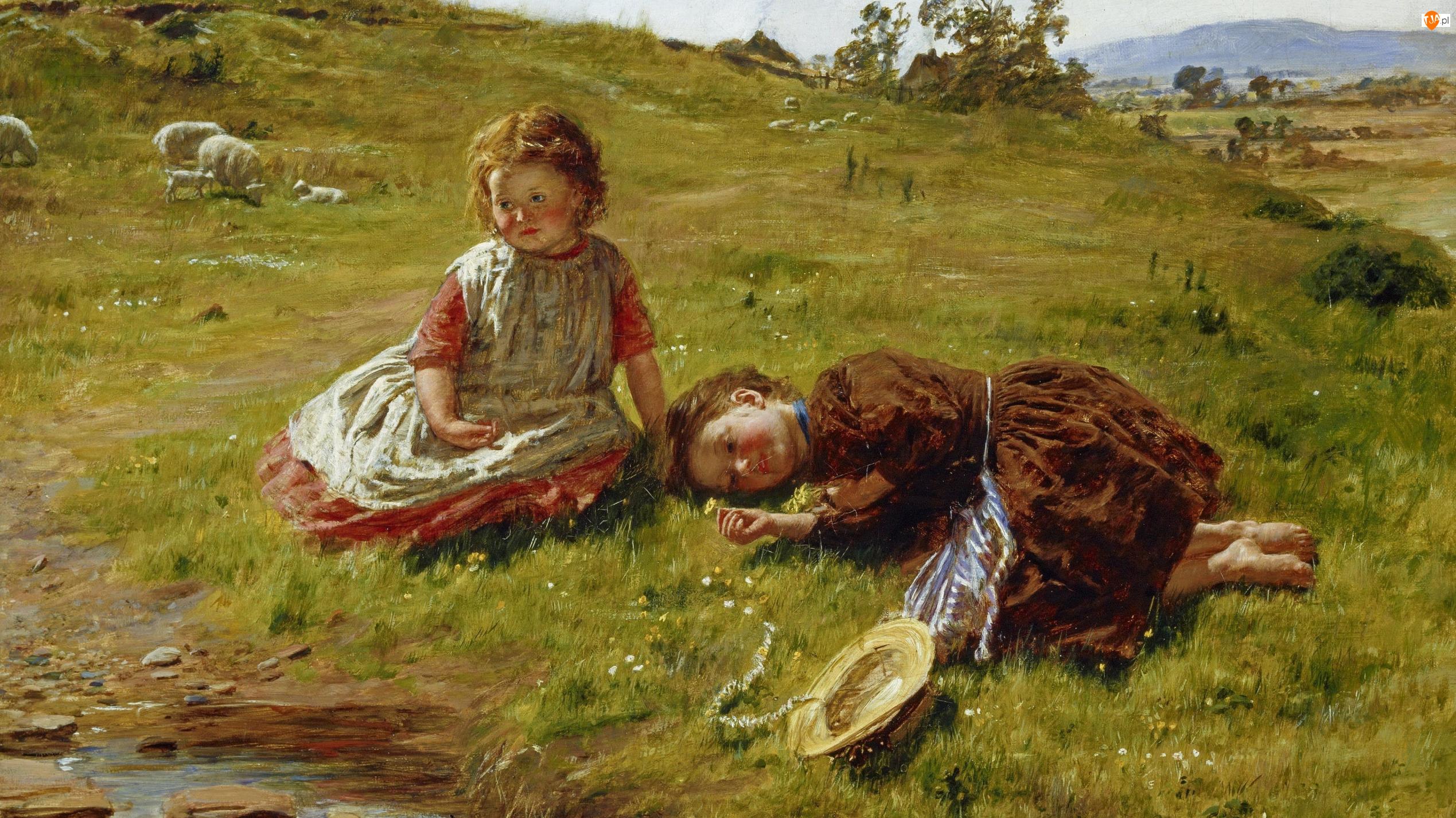 William McTaggart, Dziewczynki, Obraz, Malarstwo, Dzieci