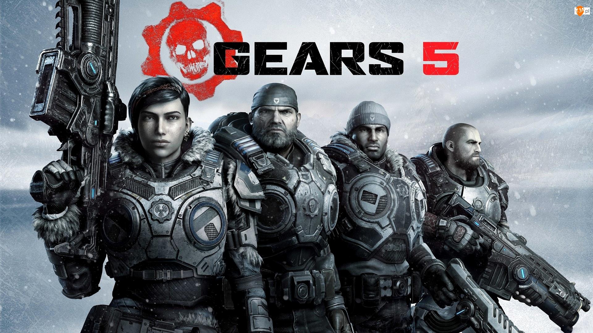 Gears 5, Broń, Gears of War, Gra, Wojownicy