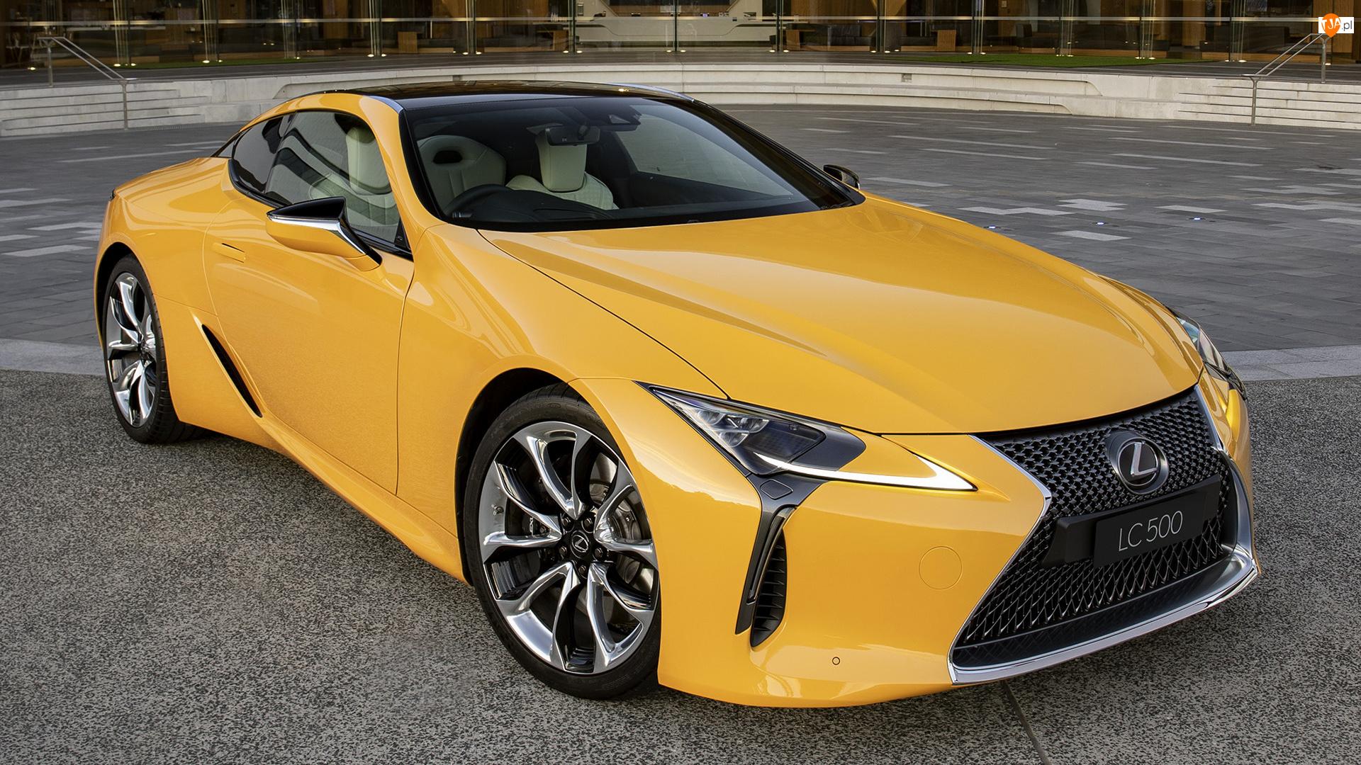 Przód, Żółty, Lexus LC 500