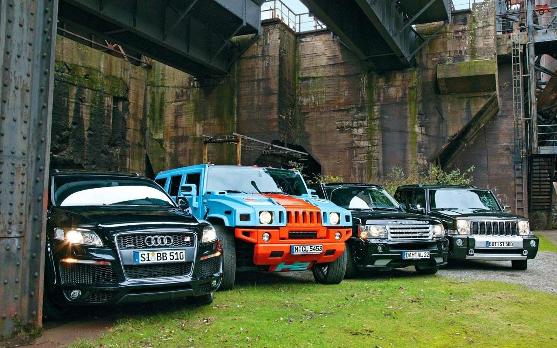 Audi, Jeep , Hummer, Range Rover