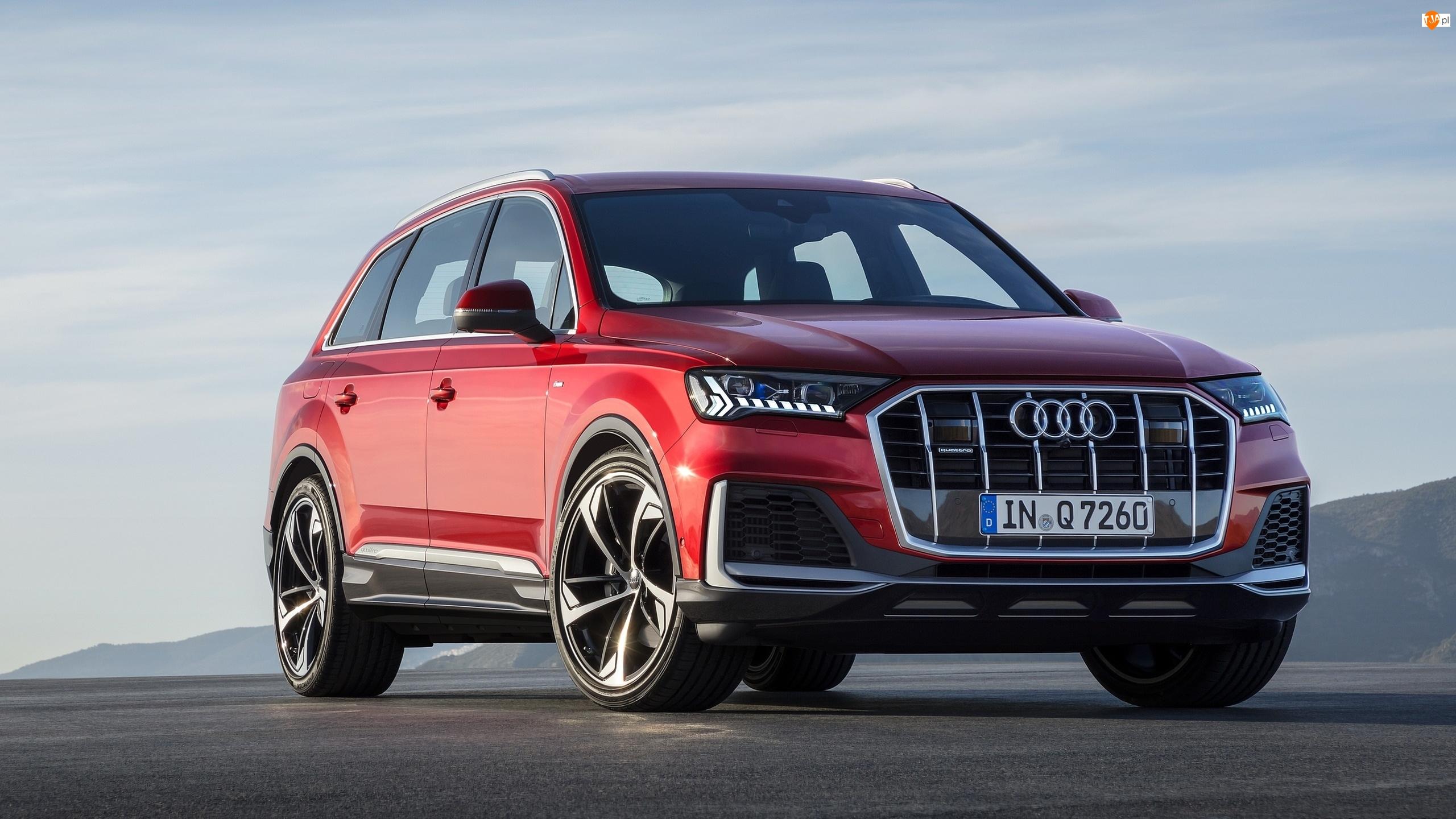 Przód, Czerwone, Audi Q7