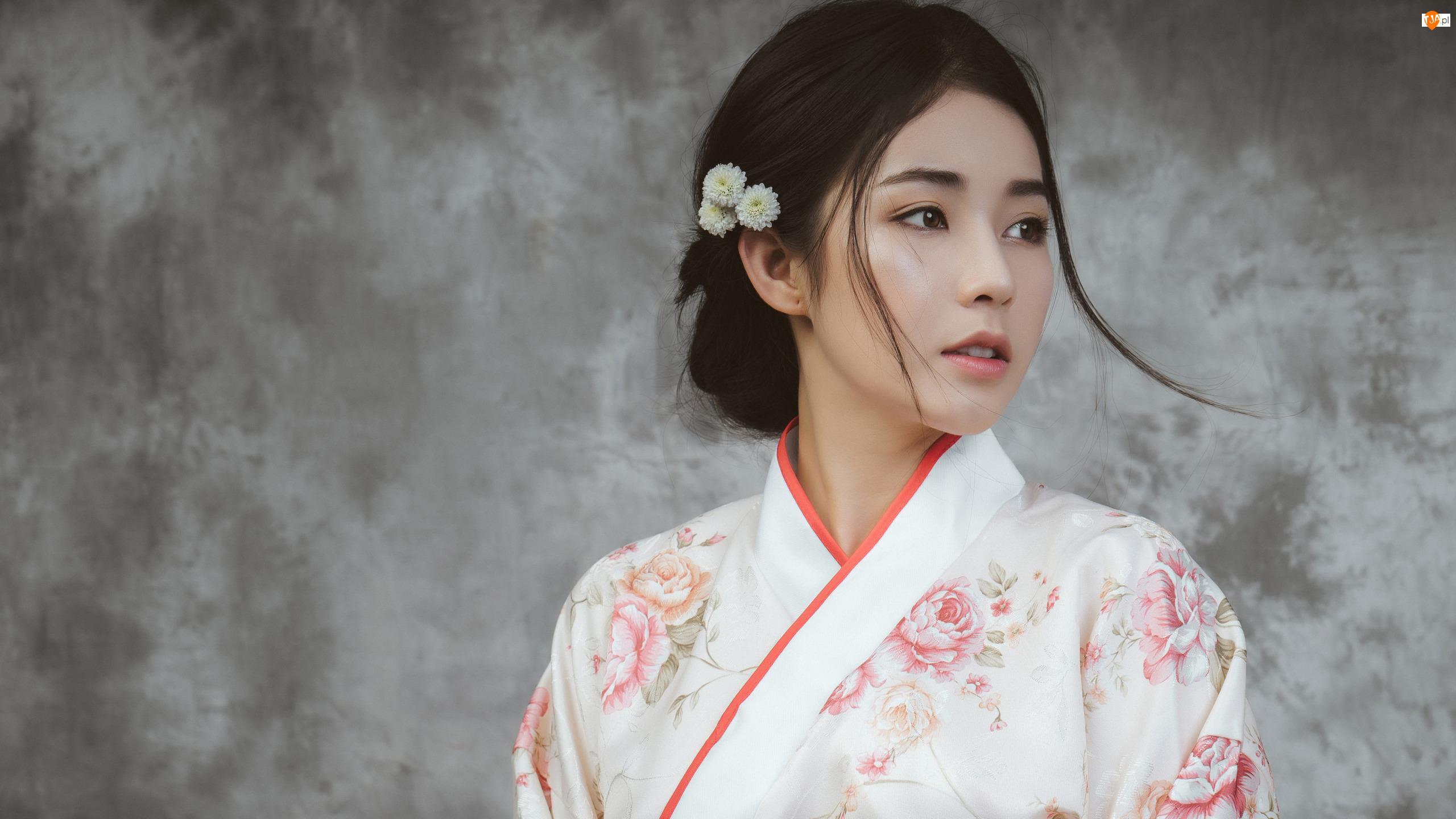 Kimono, Azjatka, Kobieta