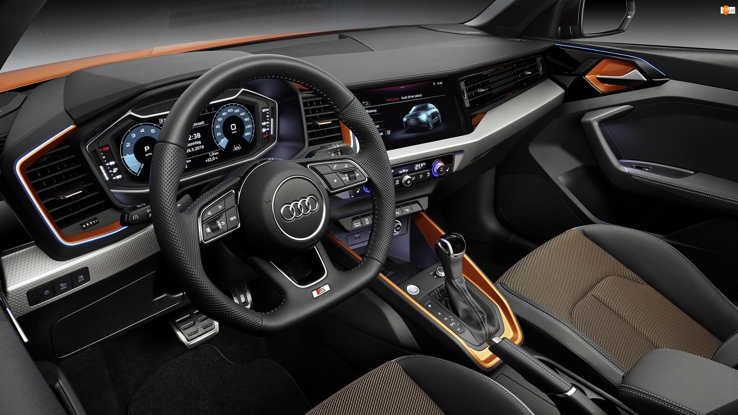 Kokpit, Kierownica, Wnętrze, Audi A1 Citycarver, Fotele