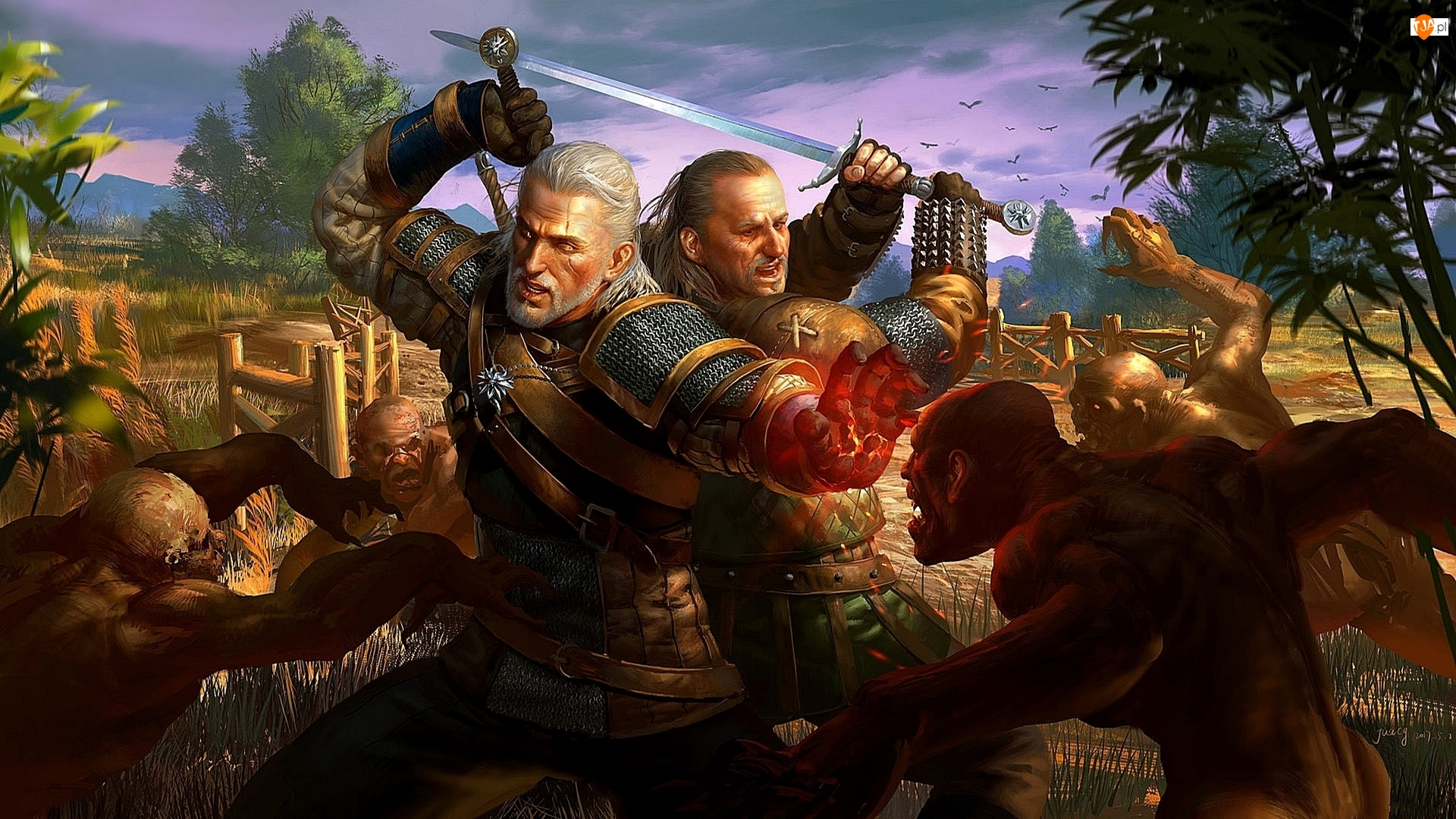 Wiedźmin 3 Dziki Gon, Walka, The Witcher 3 Wild Hunt, Gra, Postacie