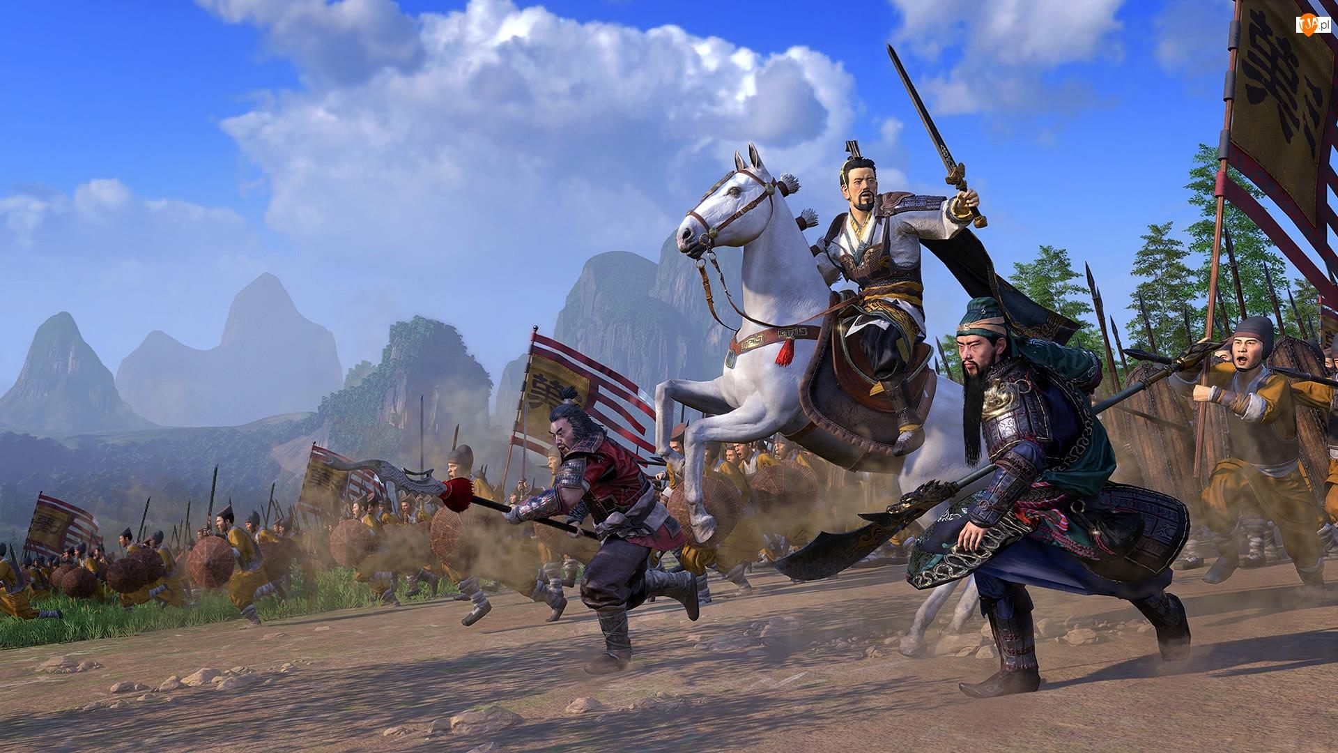 Total War Three Kingdoms, Gra, Koń, Atak, Postacie, Walka
