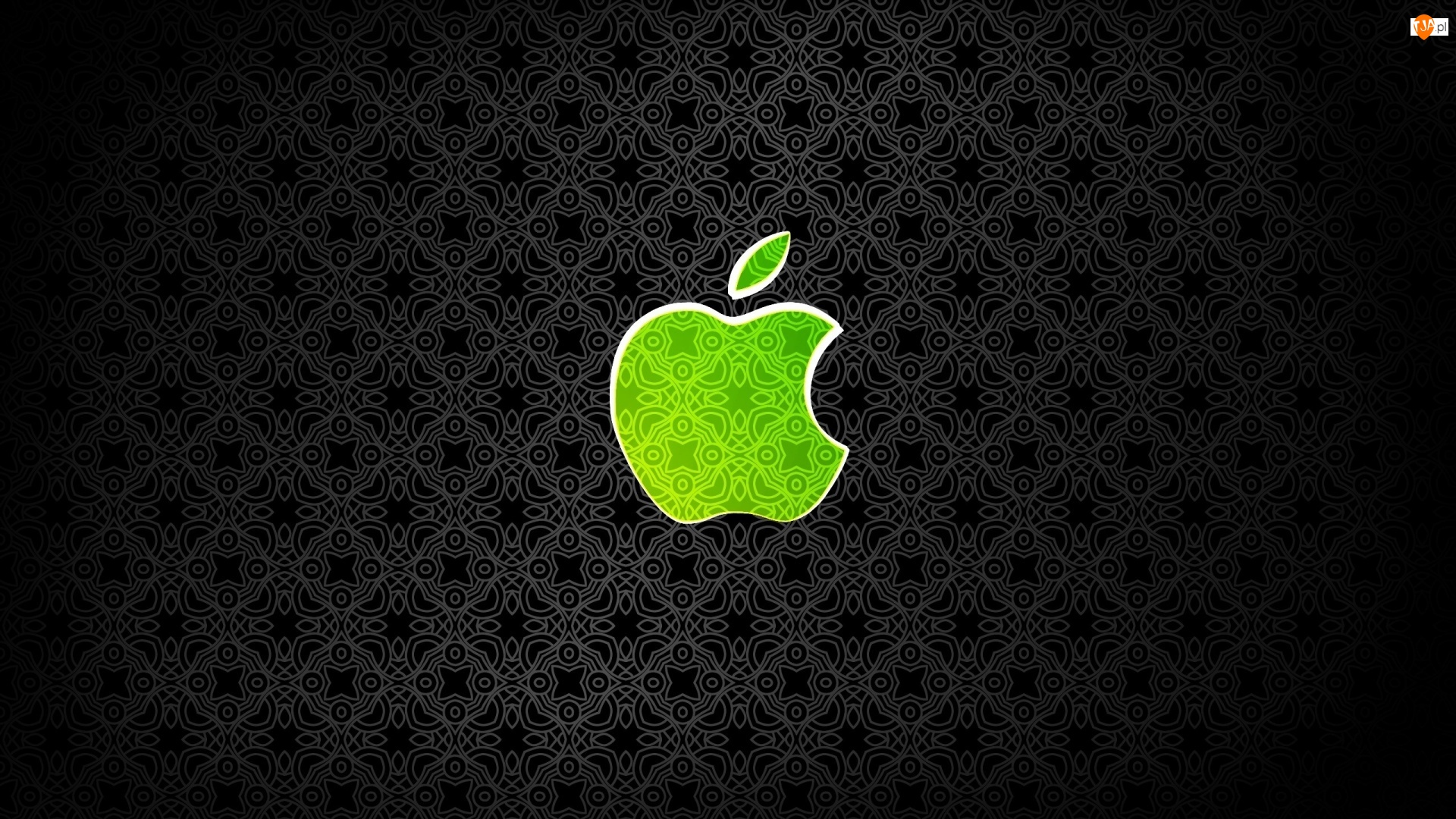 Czarne tło, System operacyjny, Apple, Jabłko