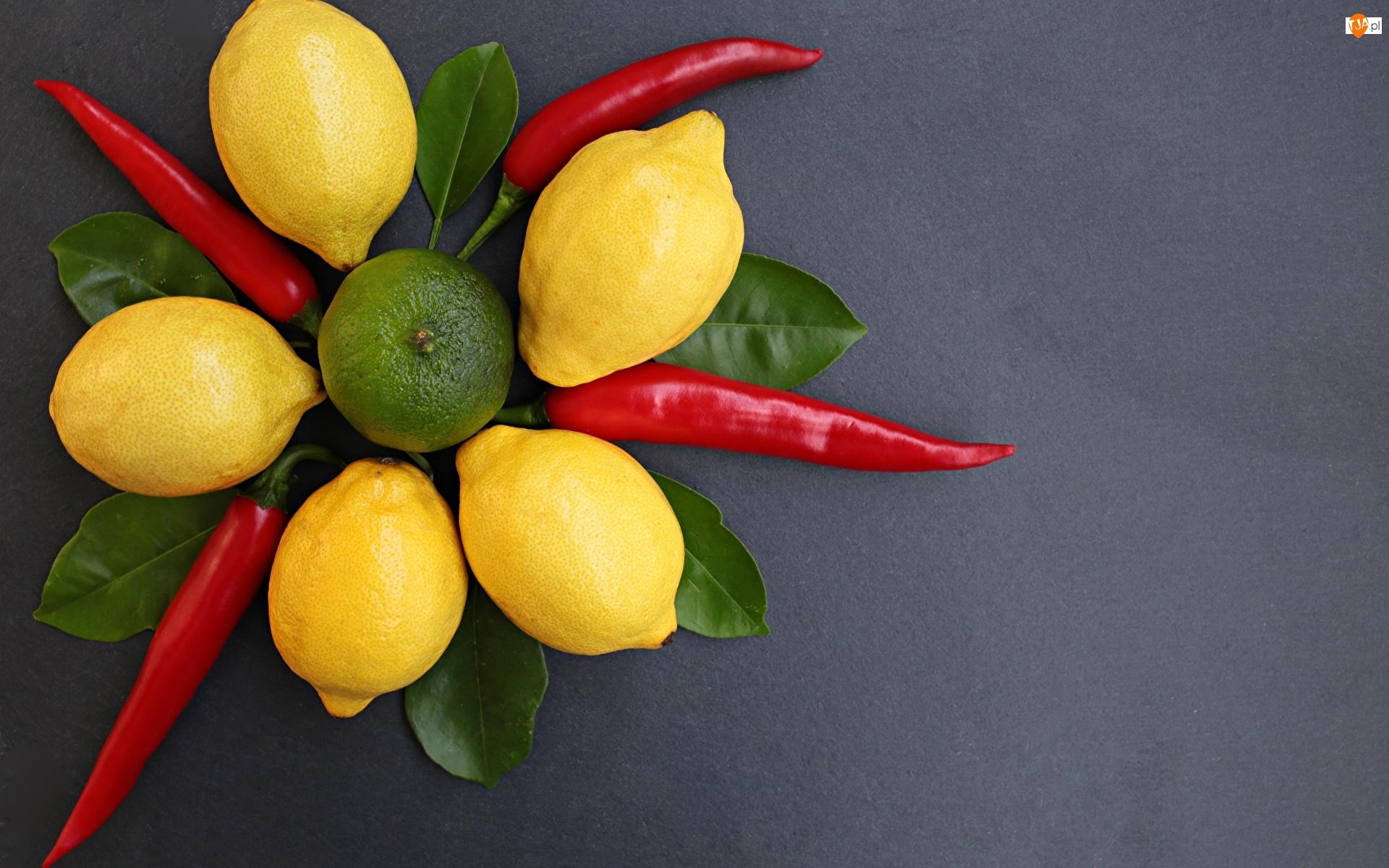 Listki, Cytryny, Papryczki, Chili