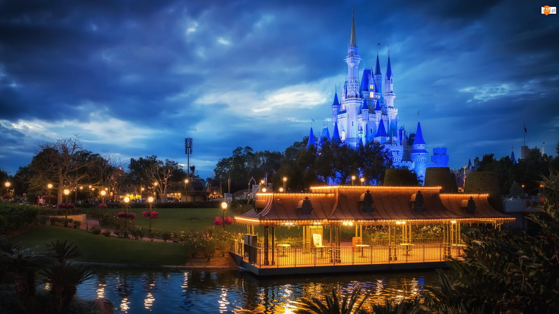 Magic Kingdom, Disneyland, Stany Zjednoczone, Park rozrywki, Floryda, Orlando, Zamek