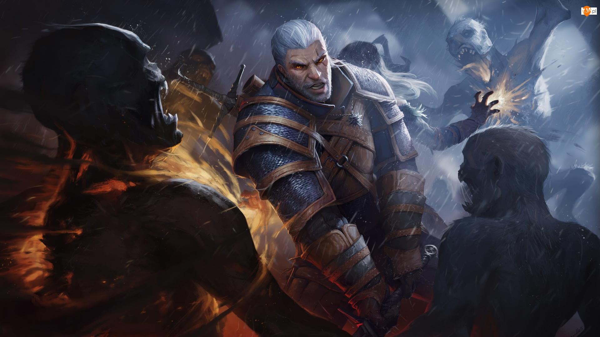 Zombie, Wiedźmin 3 Dziki Gon, The Witcher 3 Wild Hunt, Geralt z Rivii