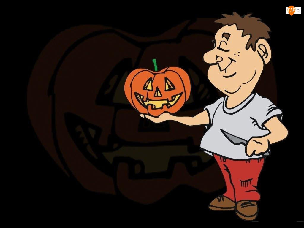 dynia, Halloween, ludzik