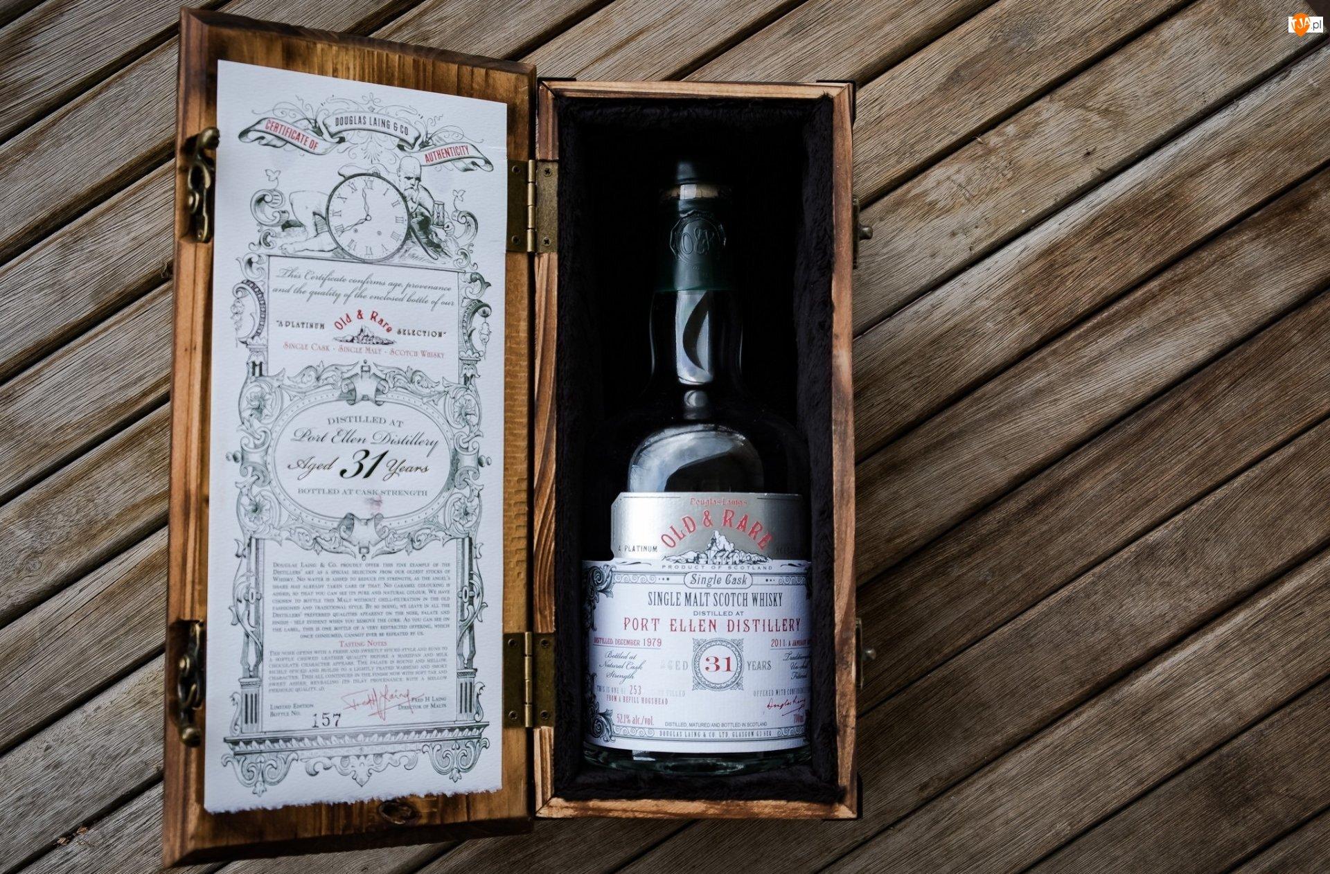 Pudełko, Whisky, Butelka