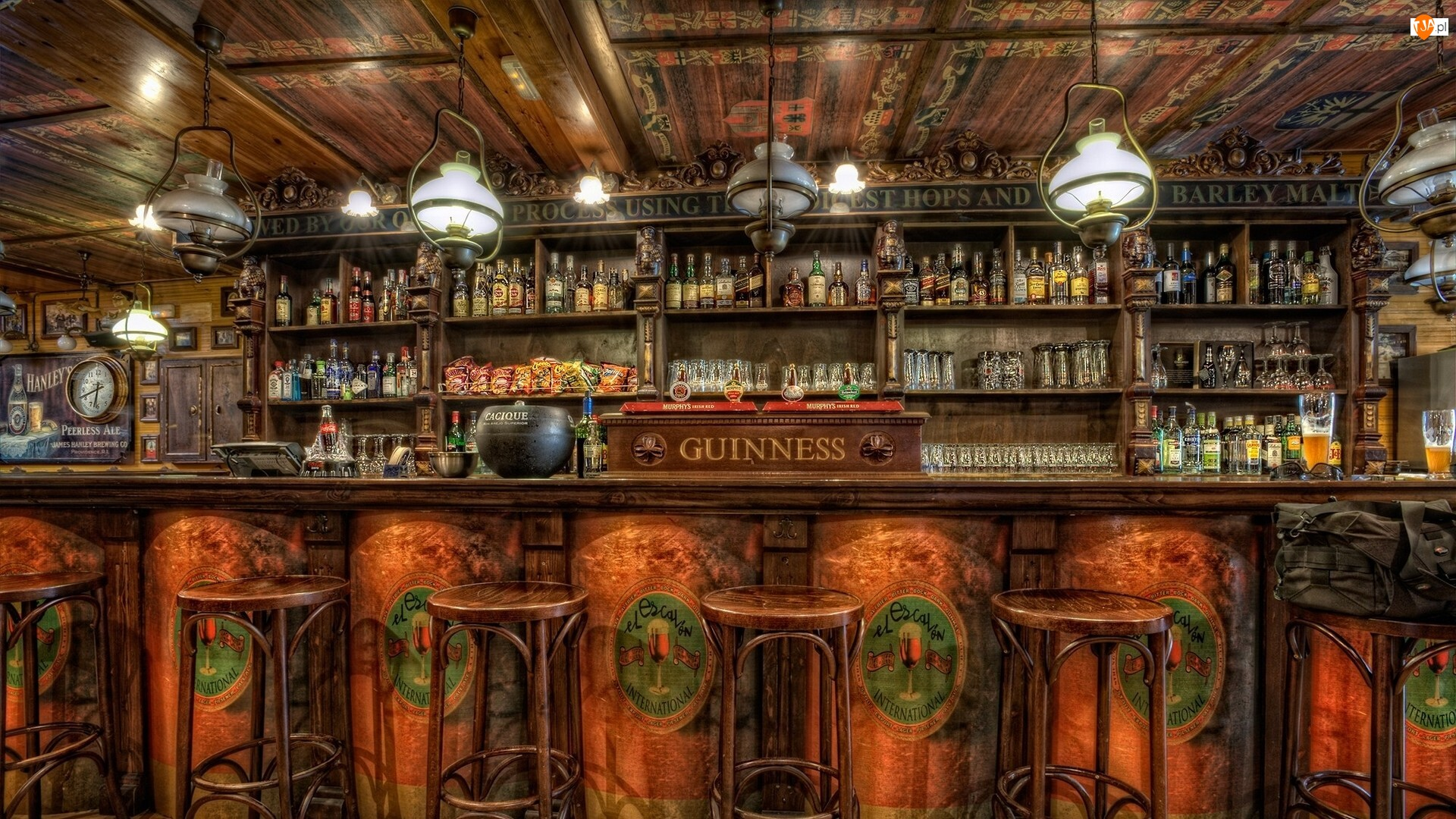 Bar, HDR, Wnętrze, Lokal, Alkohole
