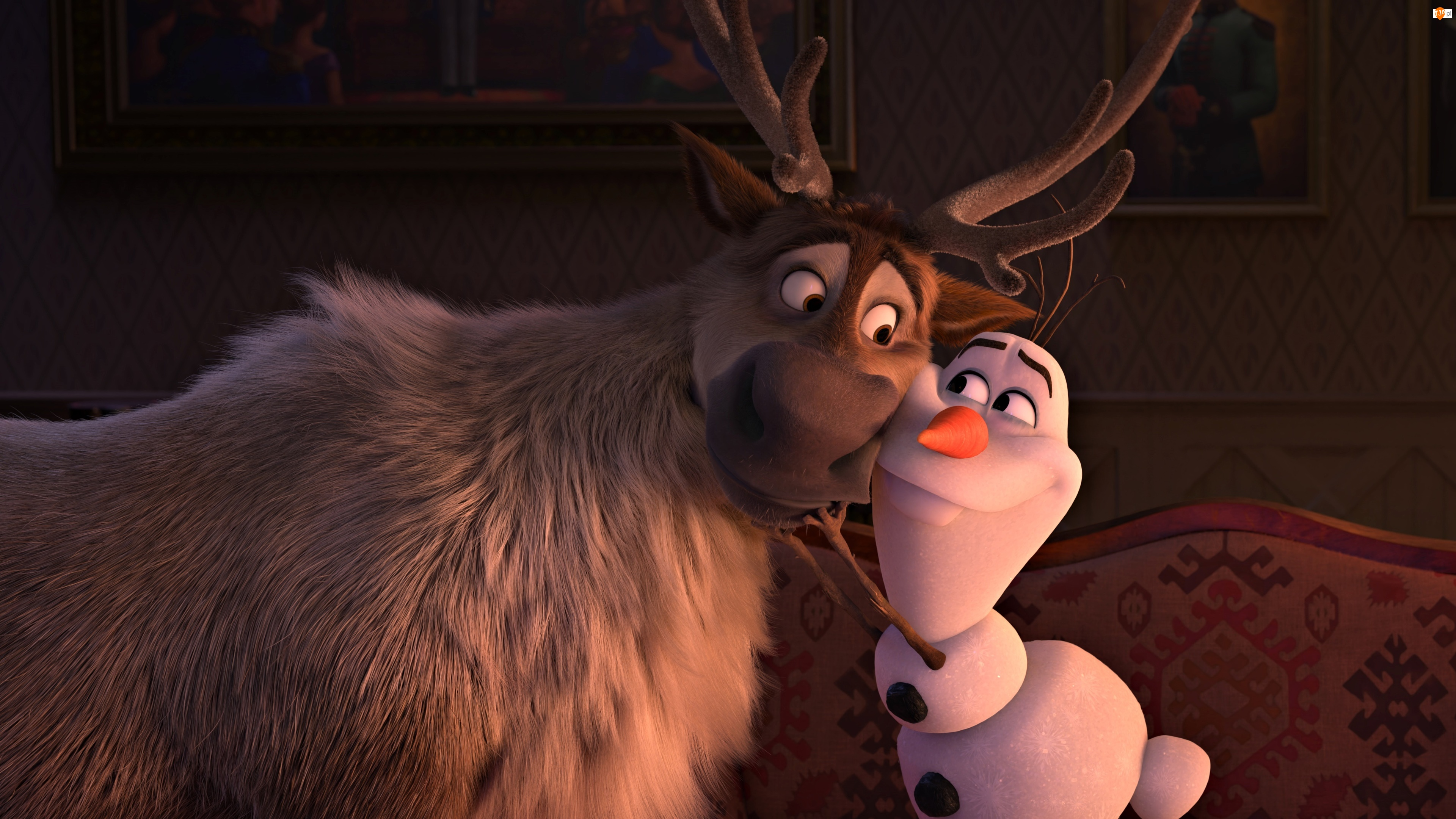 Frozen 2, Bałwanek Olaf, Kraina Lodu 2, Film animowany, Renifer Sven