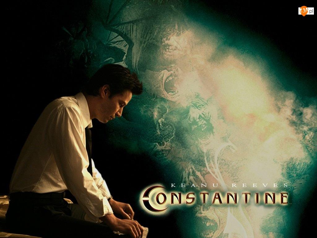 siedzi, Constantine, Keanu Reeves