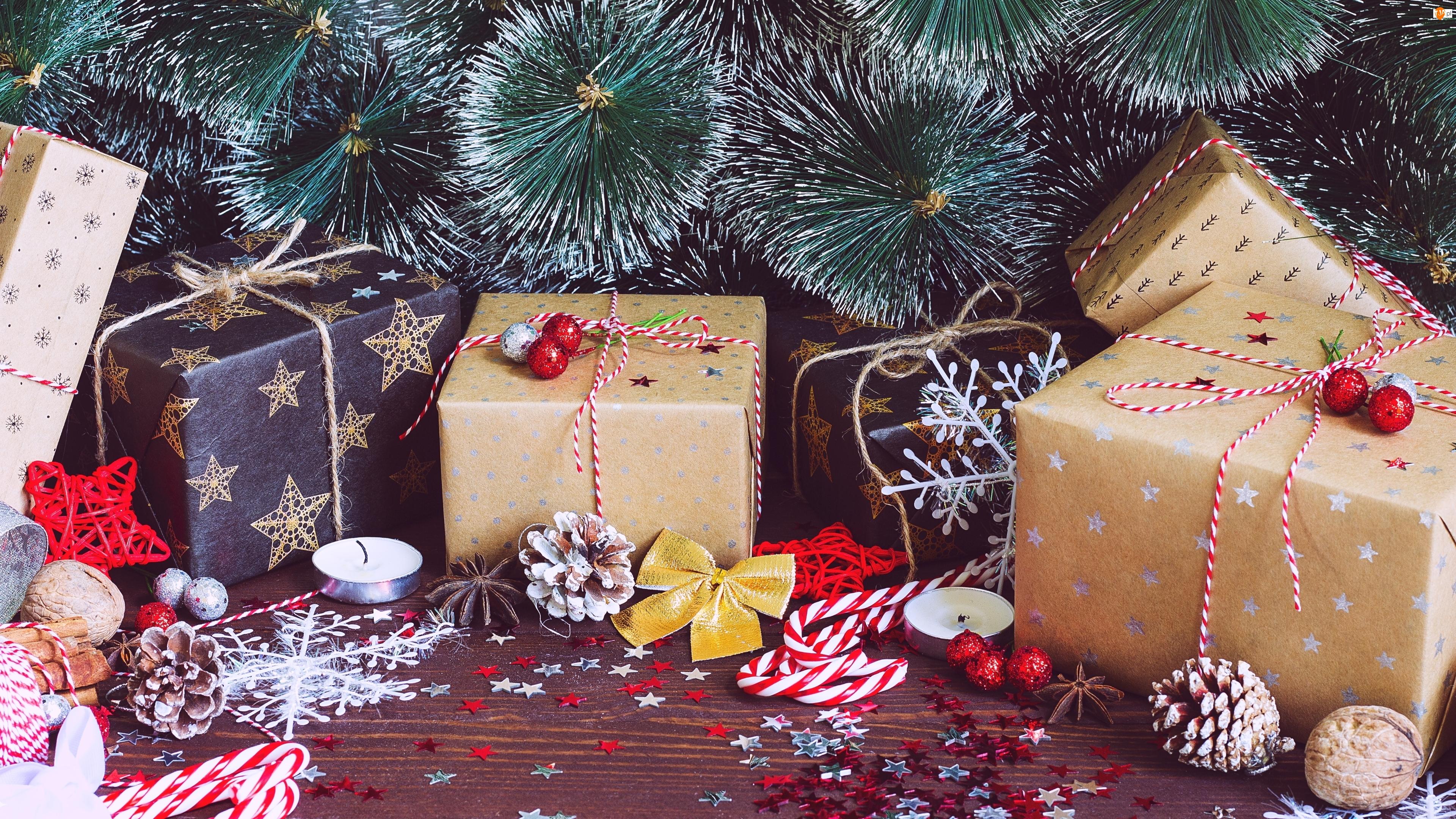 Ozdoby, Świąteczne, Prezenty, Gałązki