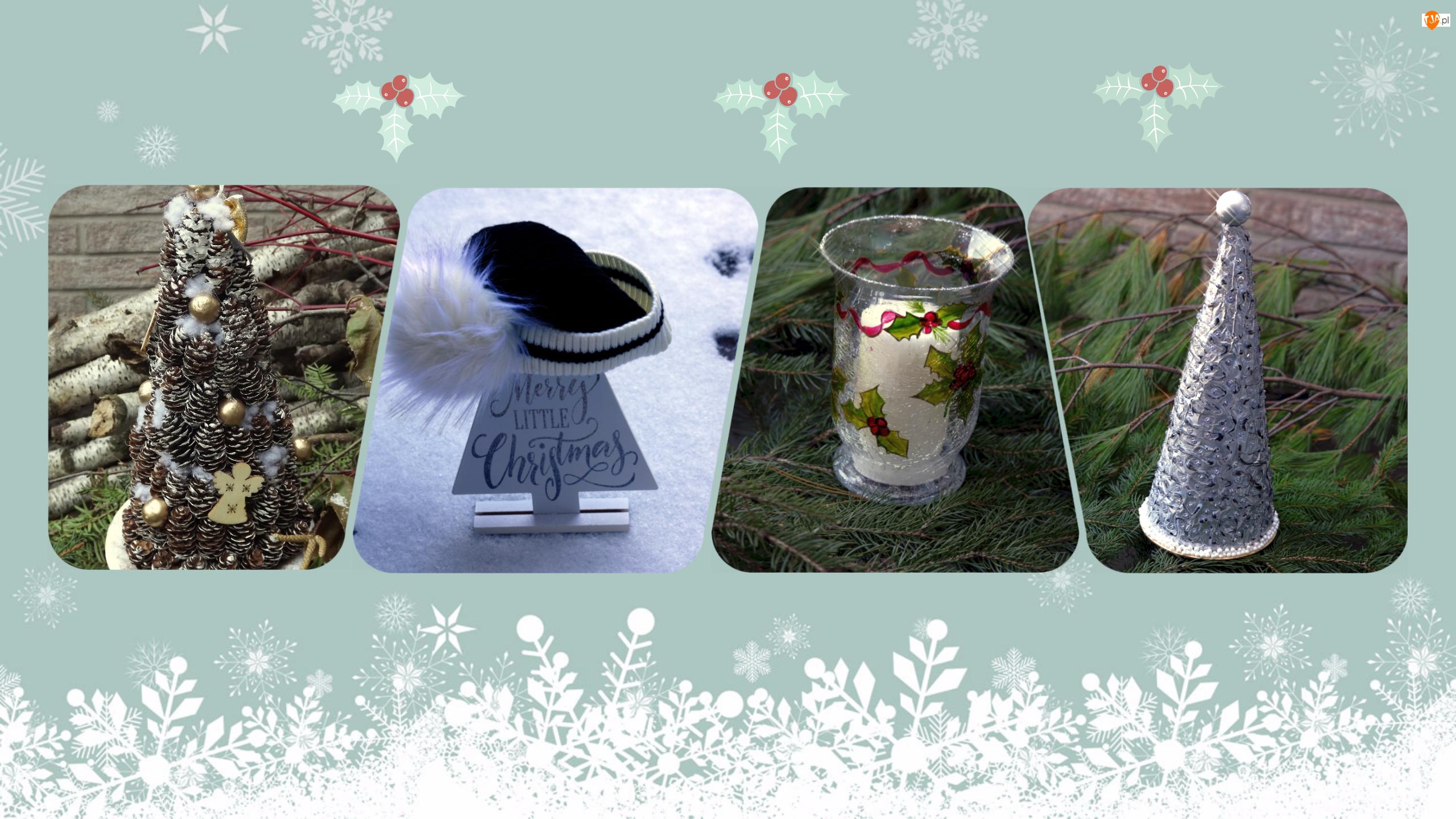 Ozdoby, Świeca, Boże Narodzenie, Grafika, Choinka