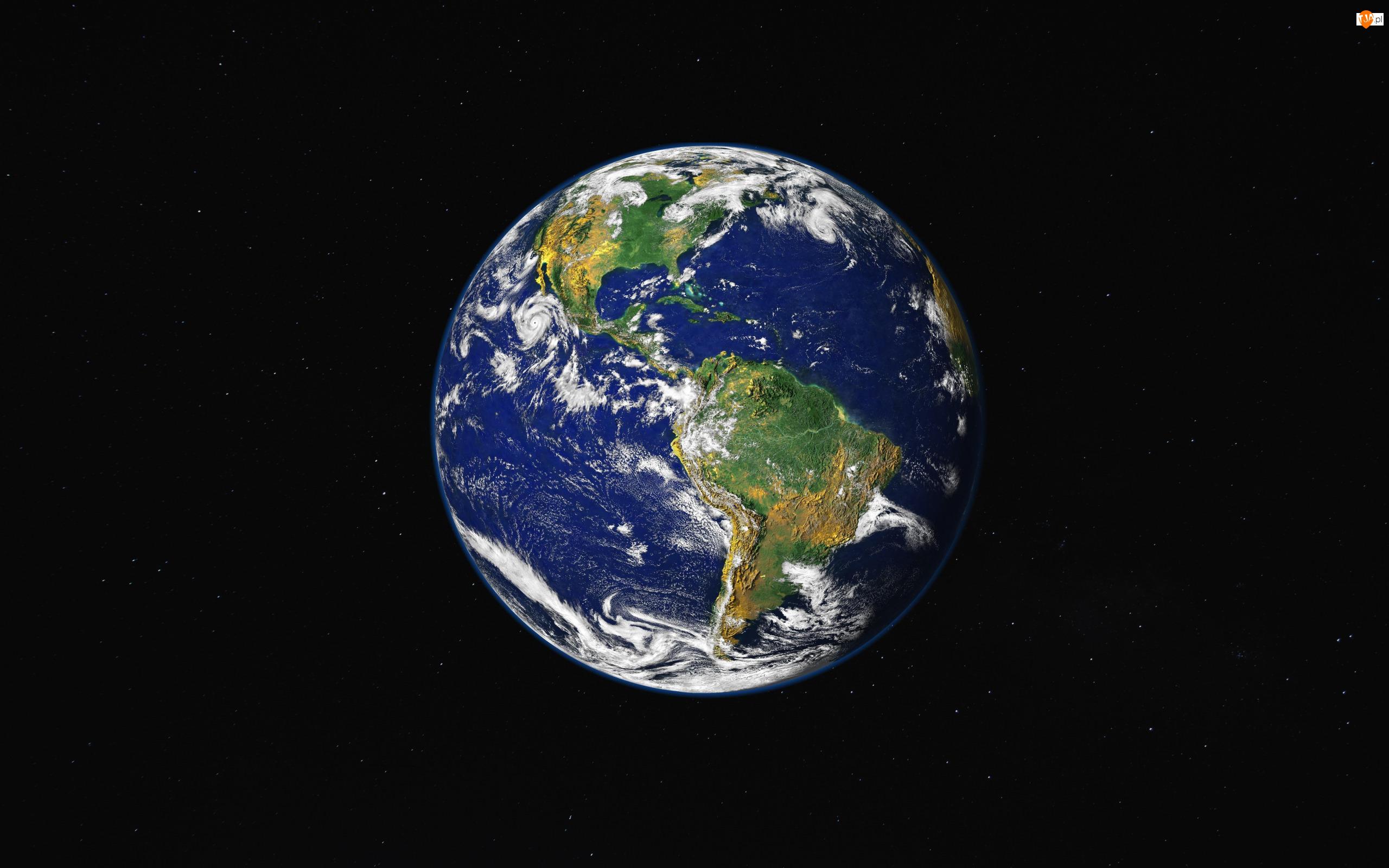 Kosmos, Gwiazdy, Ziemia, Planeta, Noc