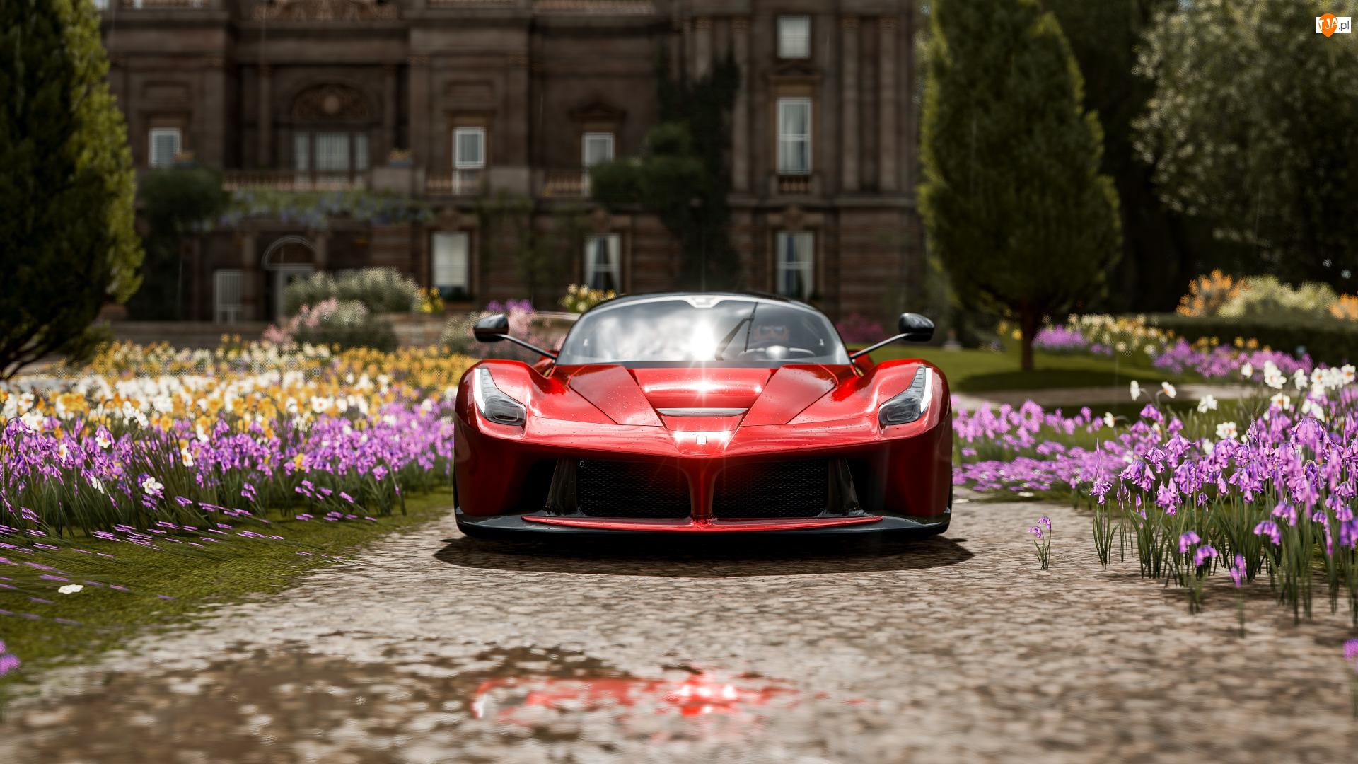 LaFerrari, Gra, Forza Horizon 4, Czerwone
