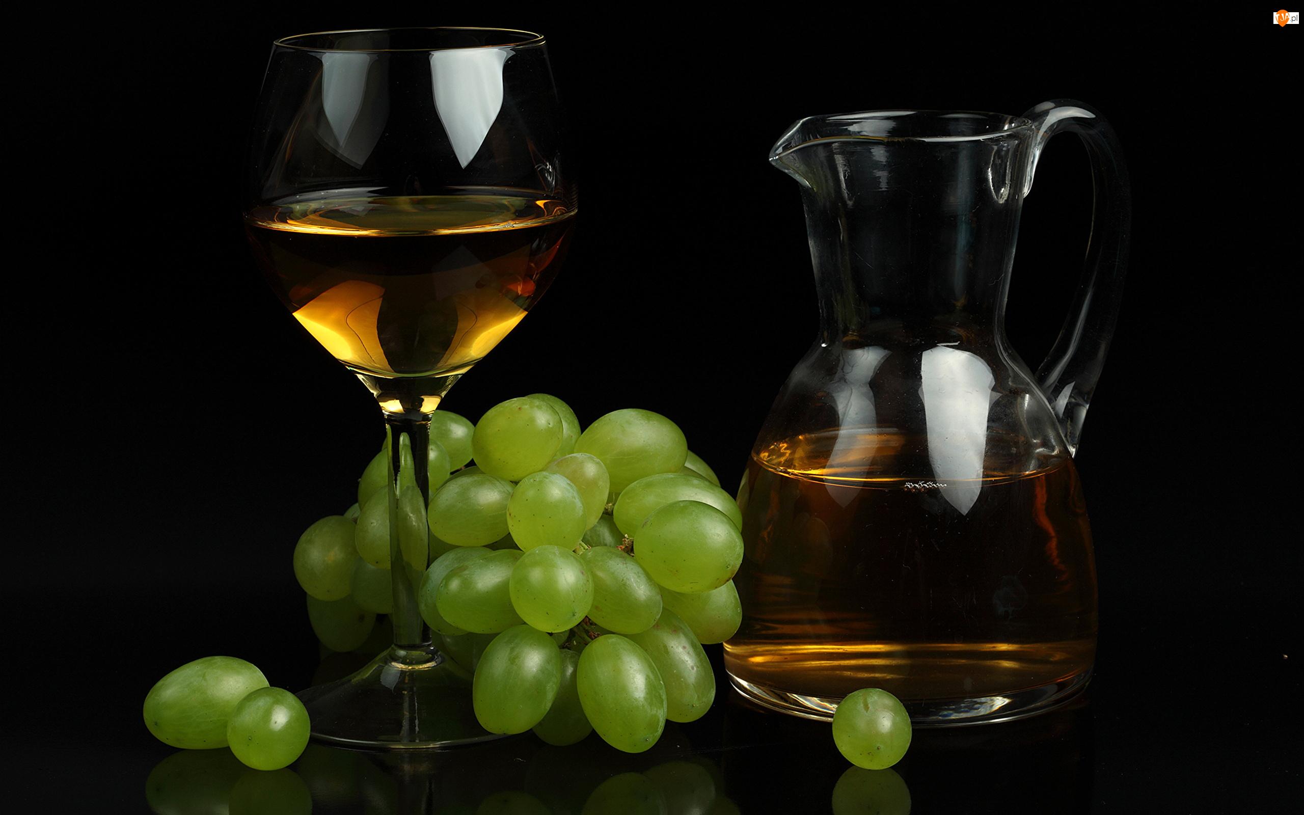 Kieliszek, Wino, Winogrona, Kość, Dzbanek