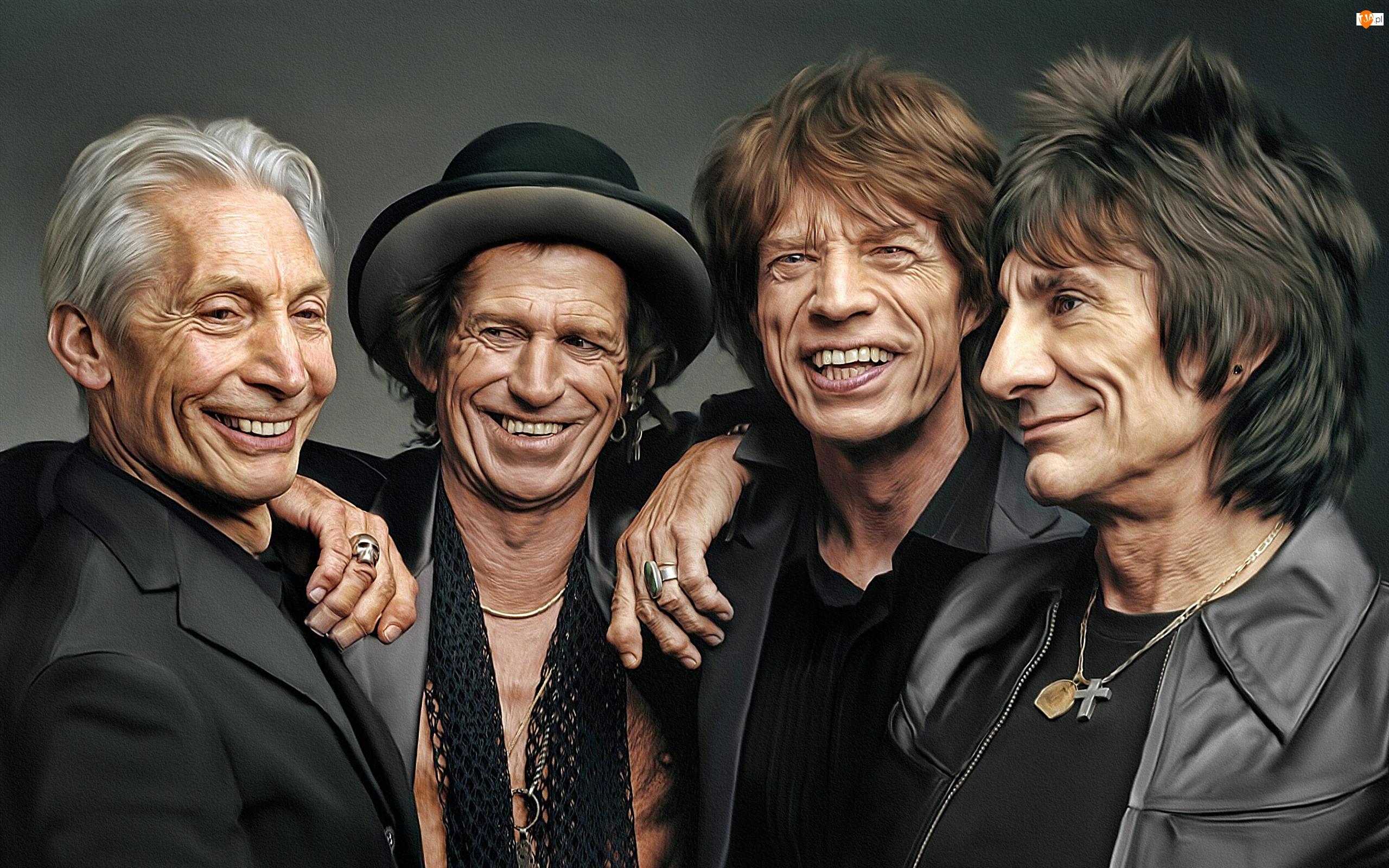 Keith Richards, Grafika, The Rolling Stones, Mick Jagger, Mężczyźni, Charlie Watts, Ron Wood, Zespół rockowy