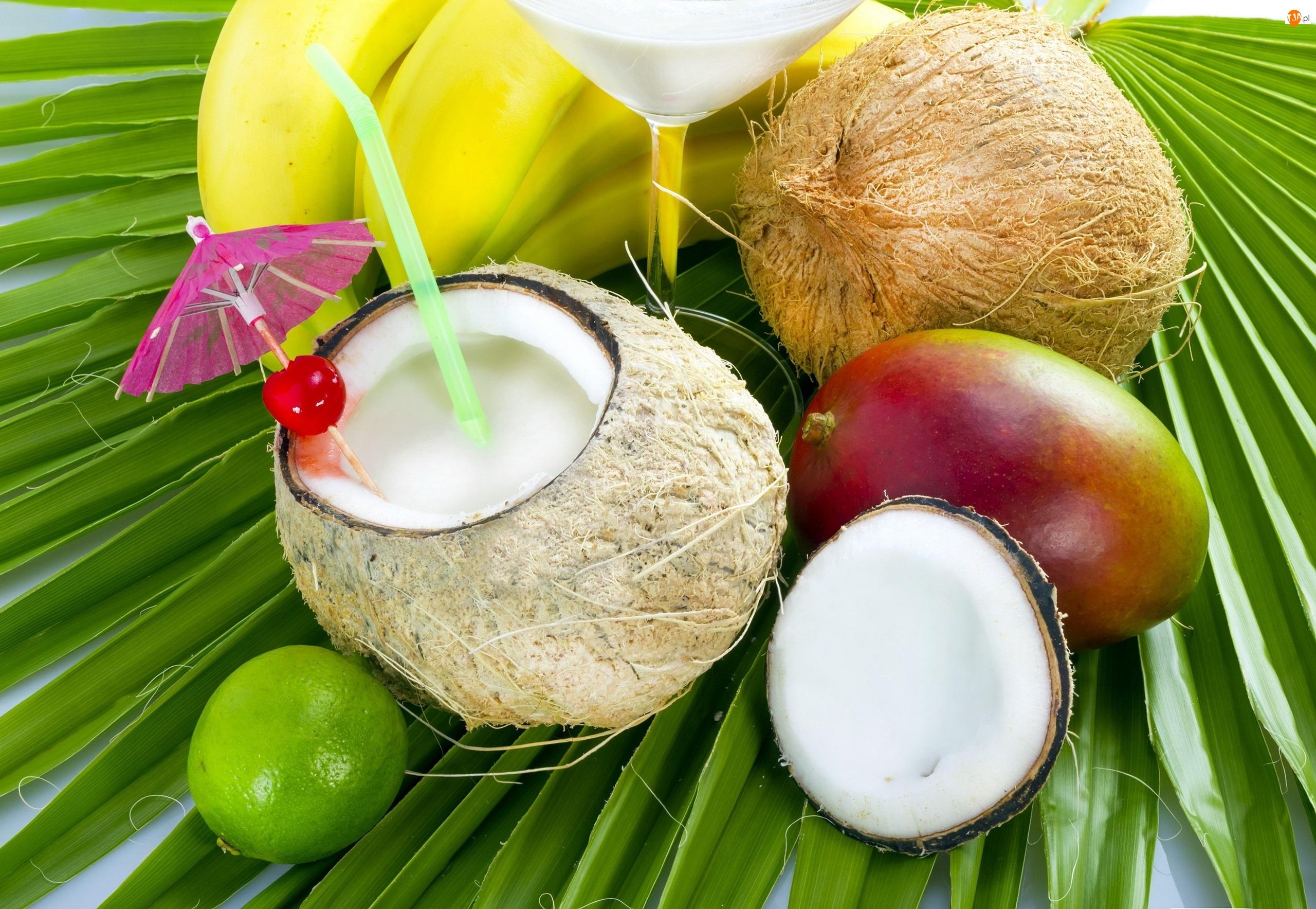 Koktajl, Mango, Banany, Kokos