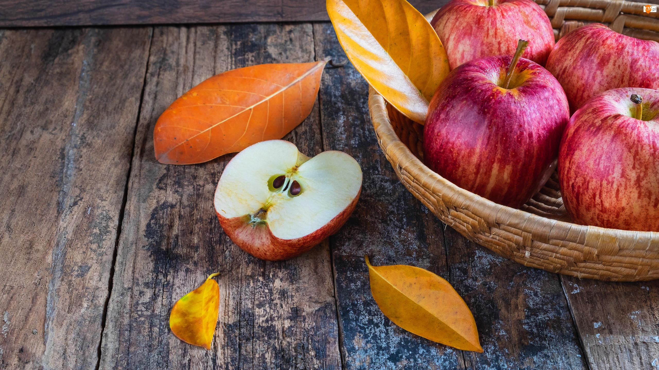 Koszyczek, Jabłka, Listki