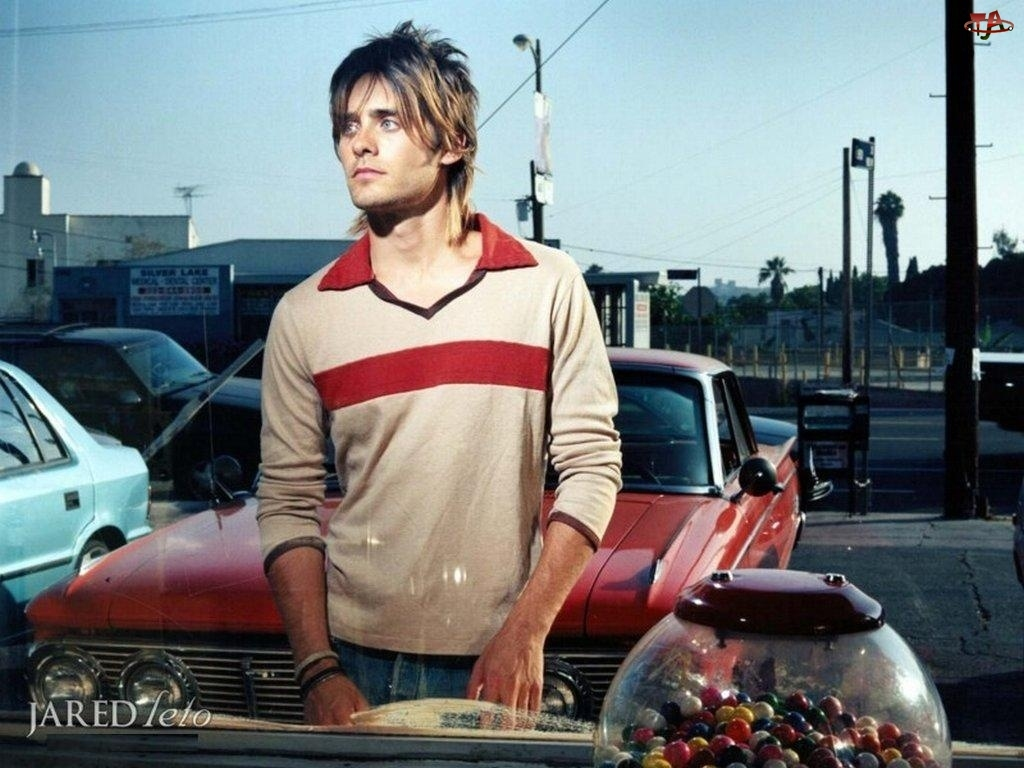 samochód, Jared Leto, jasne włosy