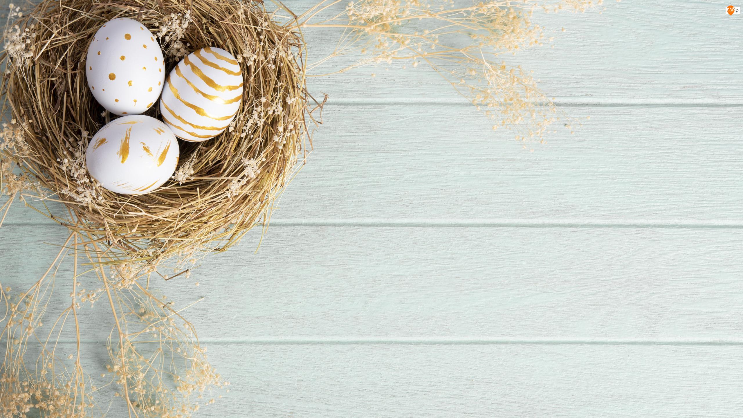 Gniazdo, Wielkanoc, Trzy, Pisanki