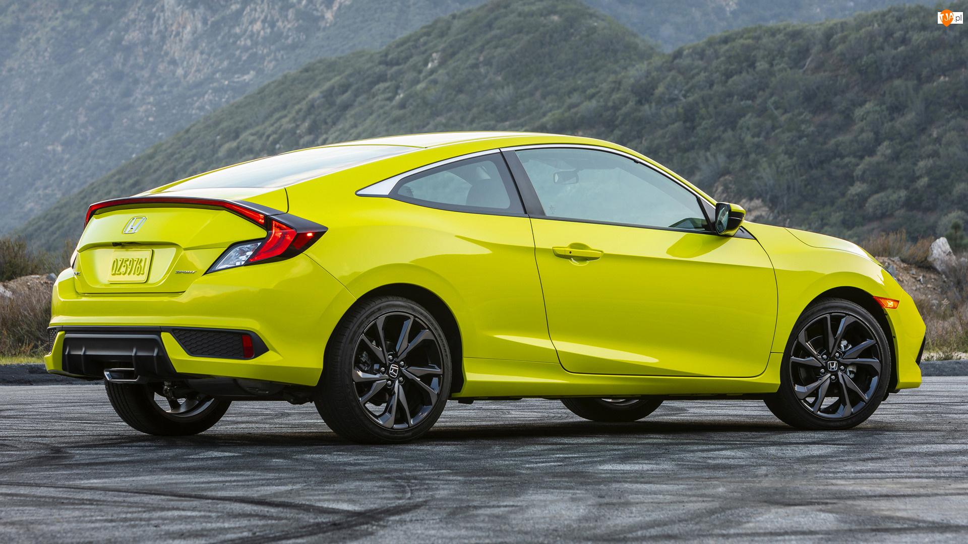 Coupe, Żółta, Honda Civic