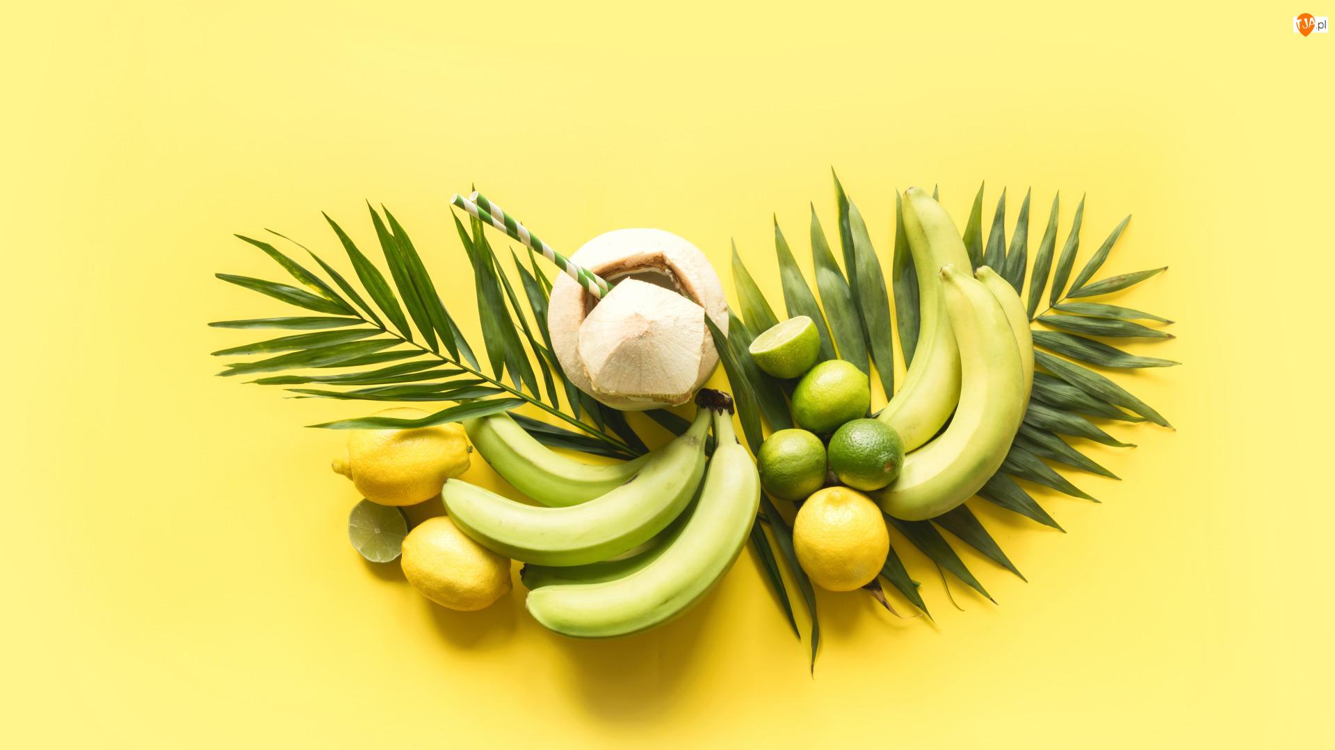 Banany, Liście, Cytryny, Limonki