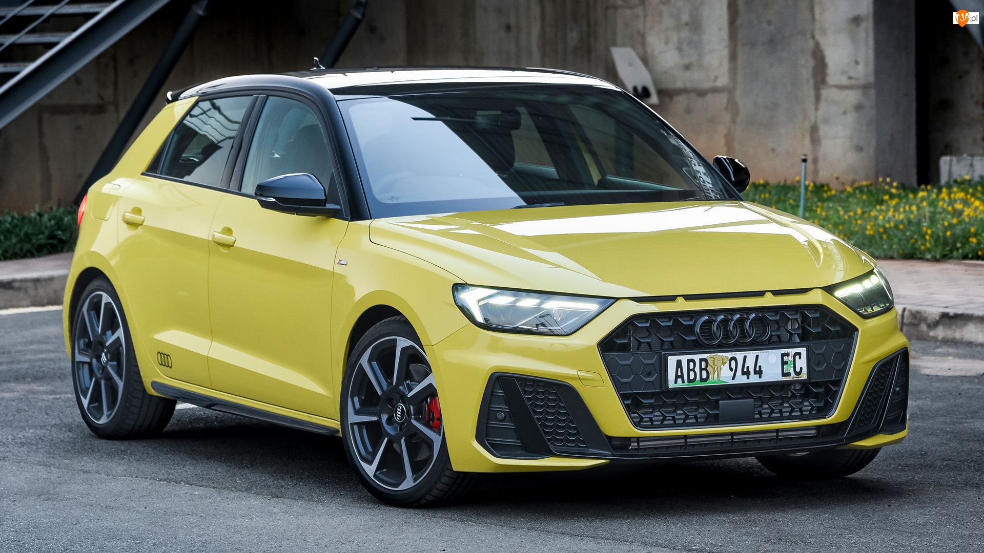 Przód, Żółte, Audi A1 Citycarver