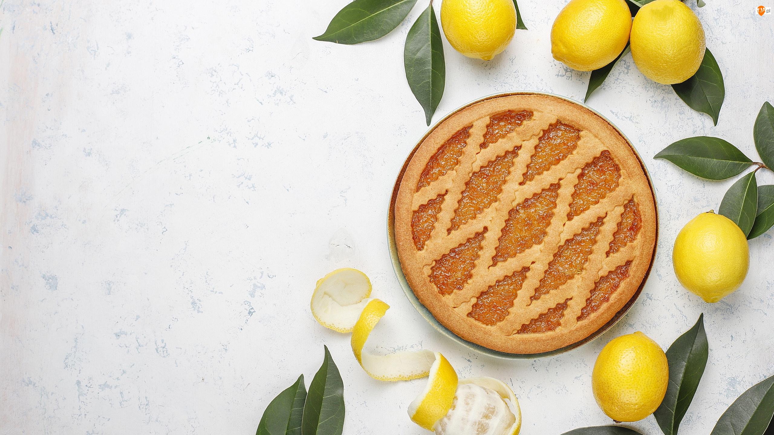 Liście, Ciasto, Cytryny