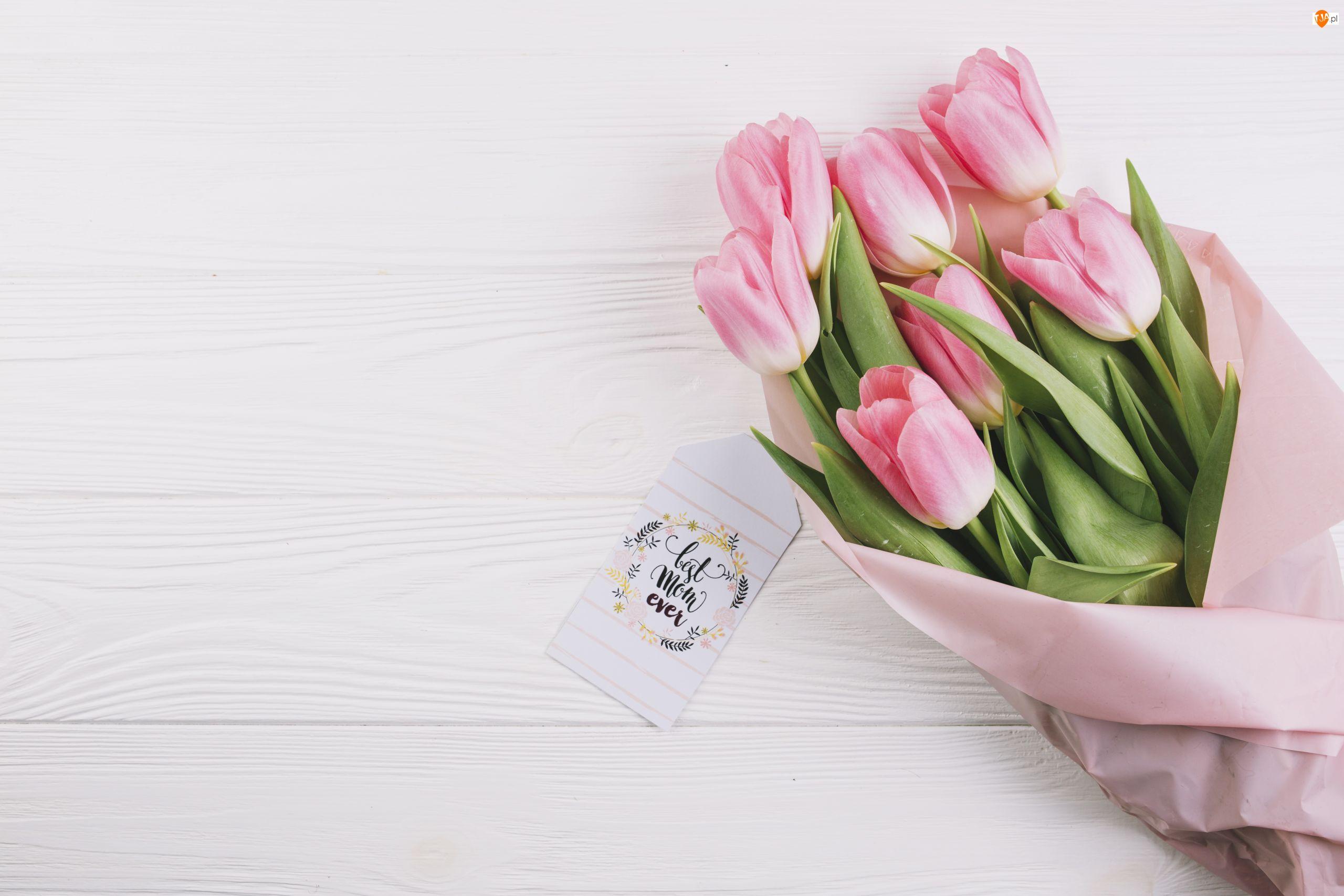 Tulipany, Dzień Matki, Bukiet, Kwiaty, Zawieszka