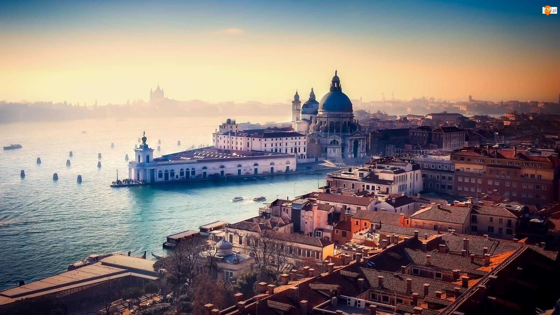 Bazylika Santa Maria della Salute, Włochy, Wenecja, Kanał Canal Grande